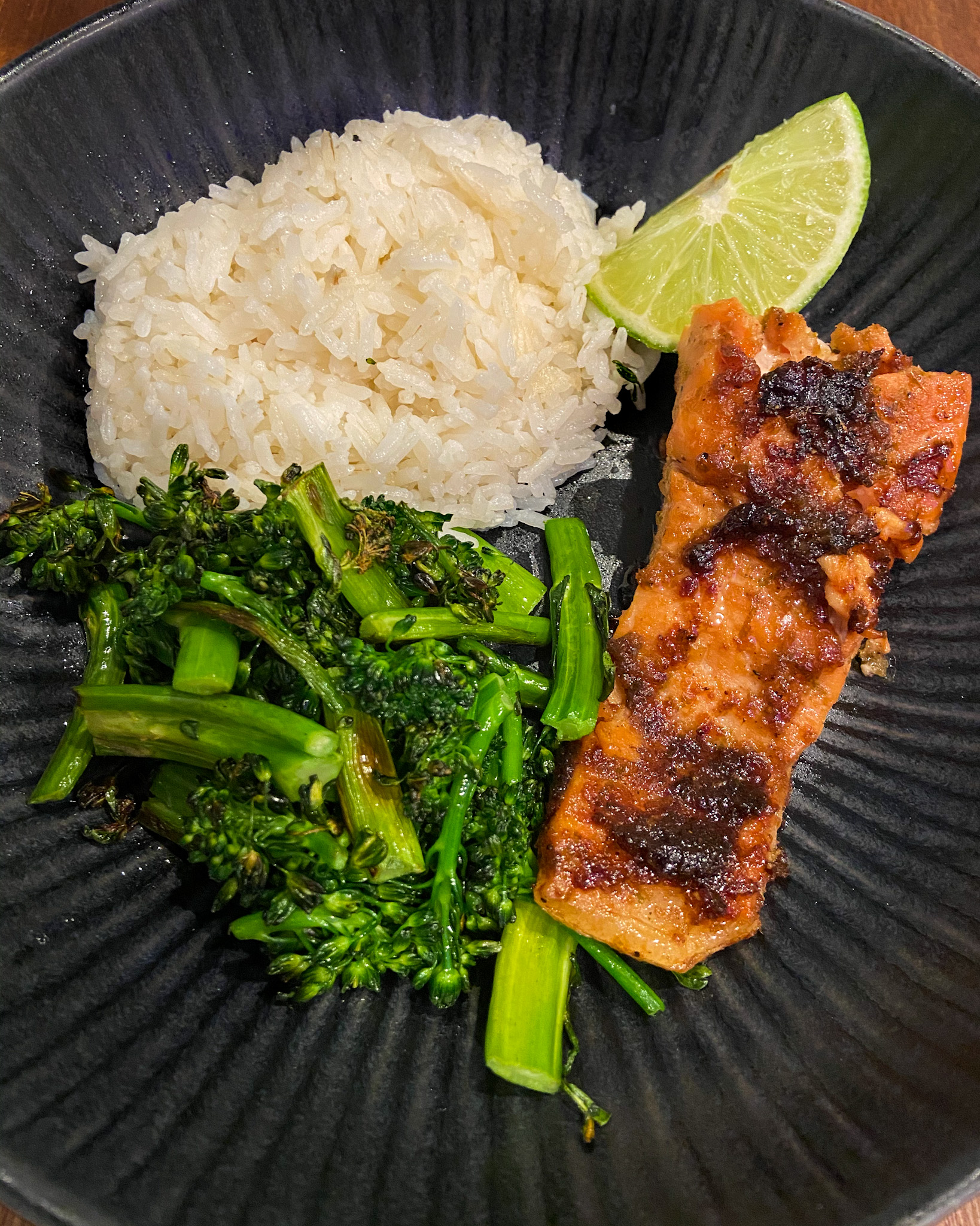 Vietnamese Salmon with Rice and Broccolini
