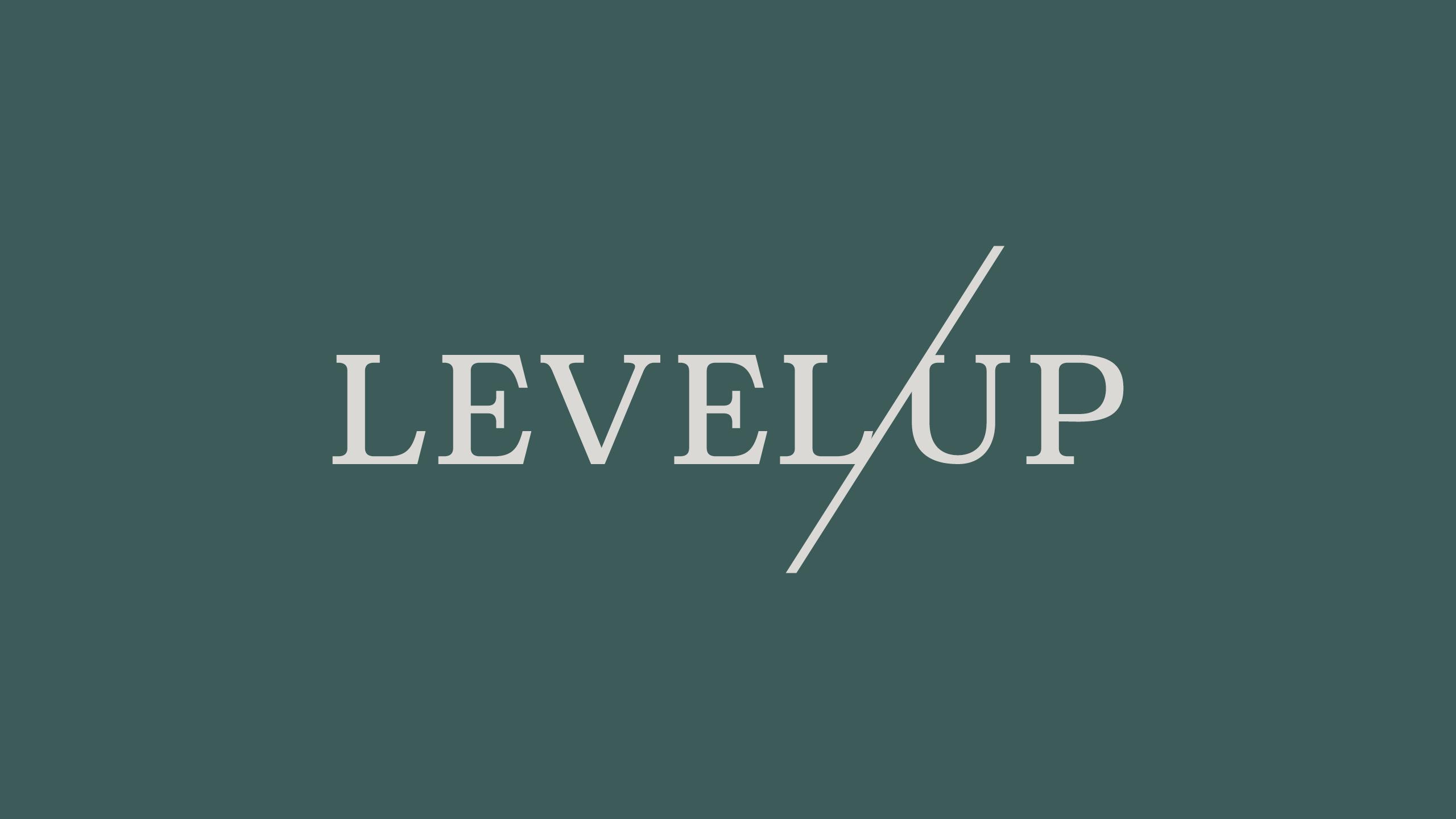 Level Up Dispensary Logo by High Road Design Studio