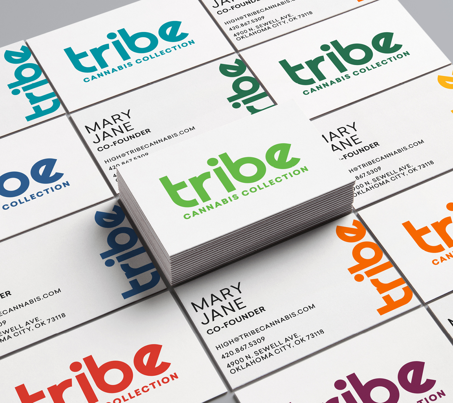 Tribe Cannabis Collection Business Card Design by High Road Design Studio