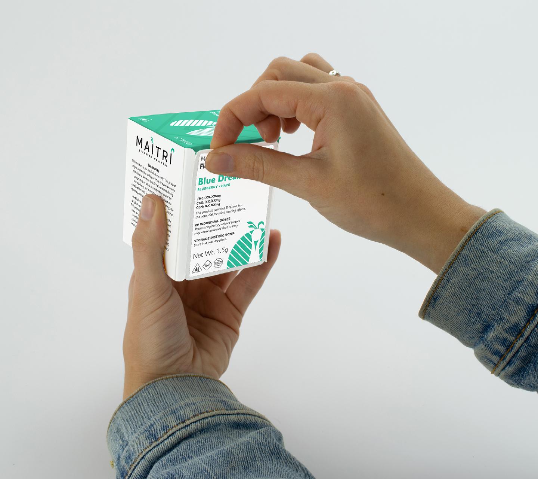 Maitri Genetics Product Packaging Design by High Road Design Studio