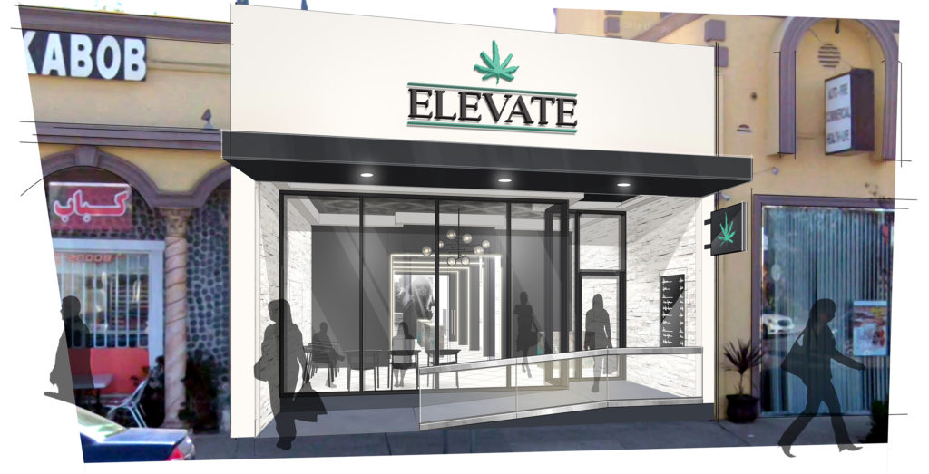 Elevate dispensary, Megan Stone, The High Road Design Studio, mg magazine