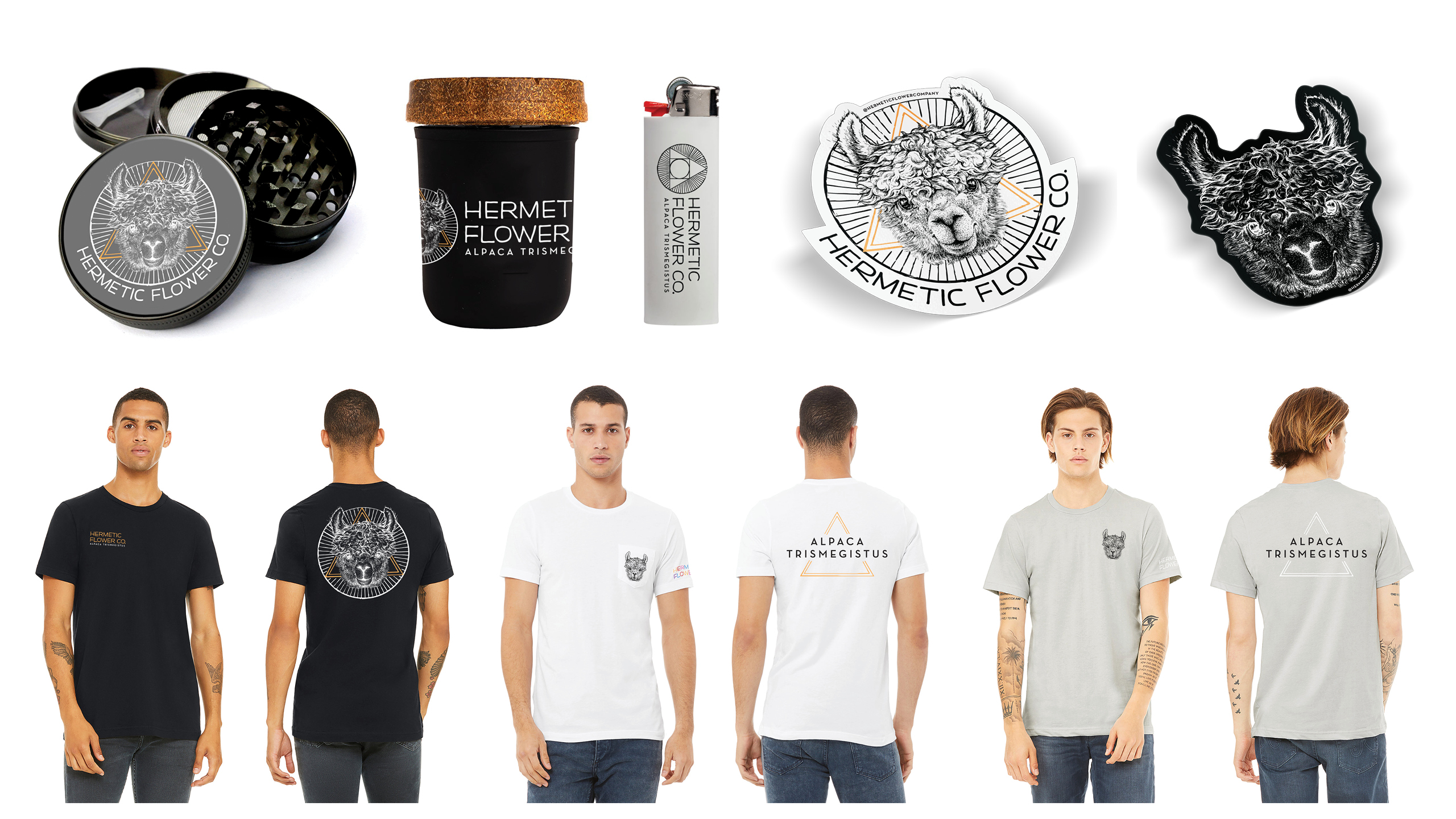 Hermetic Flower Company Branded Apparel by High Road Design Studio