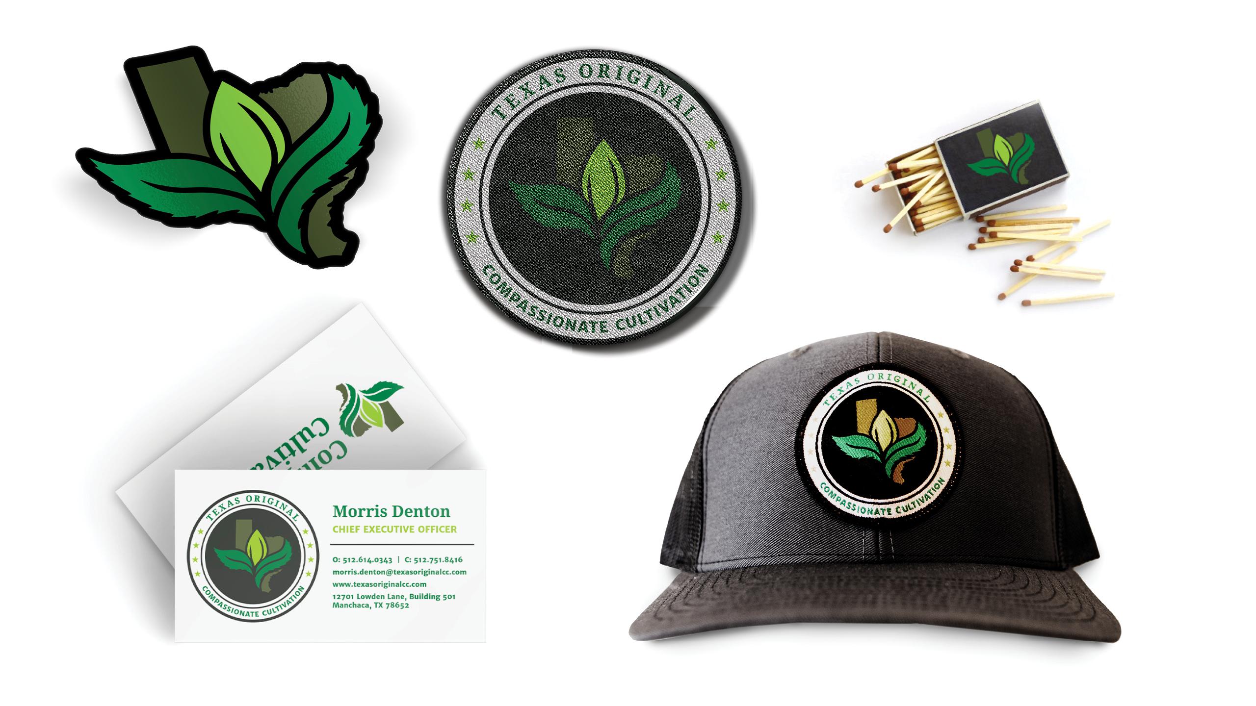 Texas Original Cannabis Company Custom Apparel & Branded Collateral by High Road Design Studio