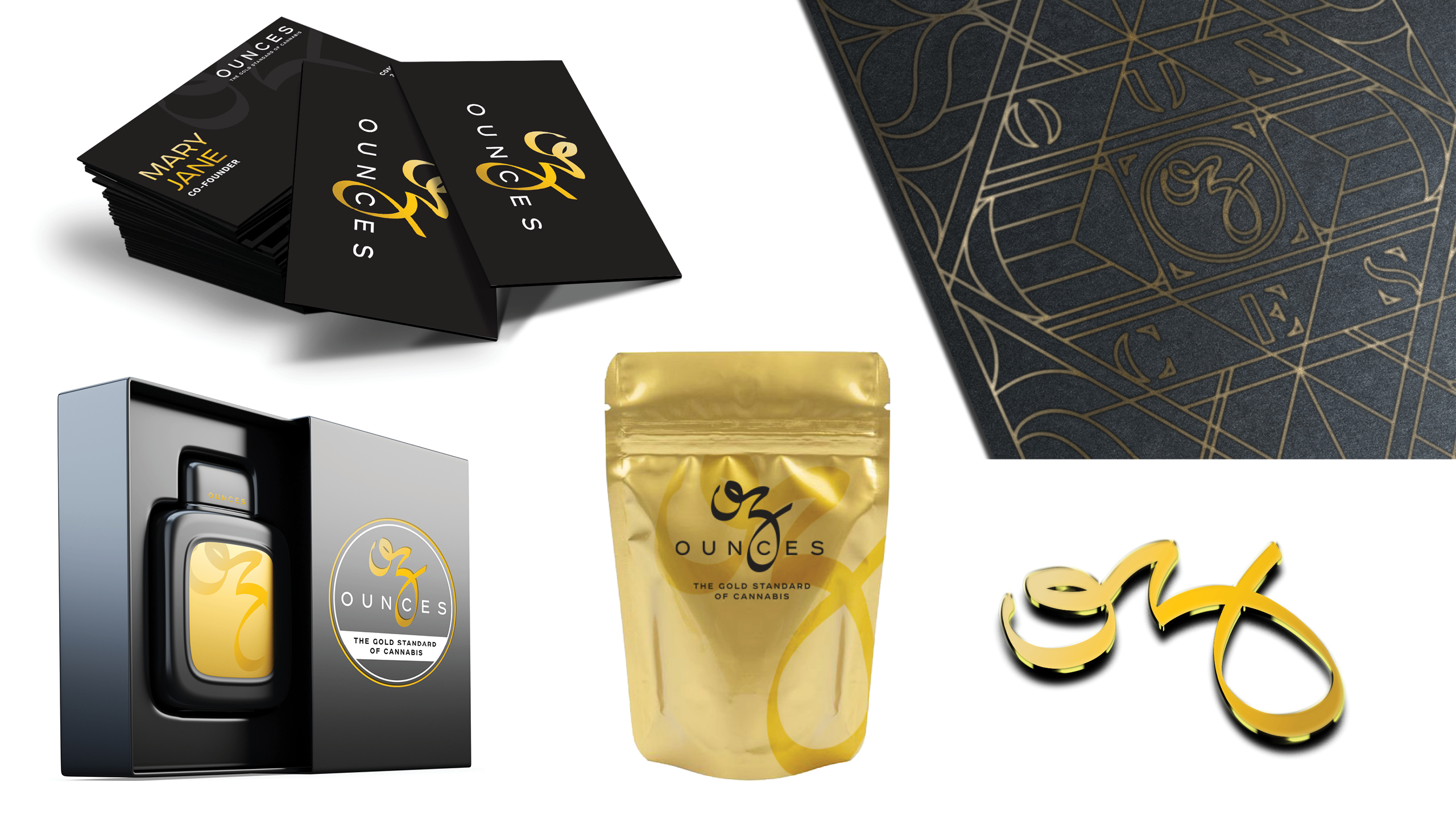 Ounces Branded Swag & Collateral by High Road Design Studio