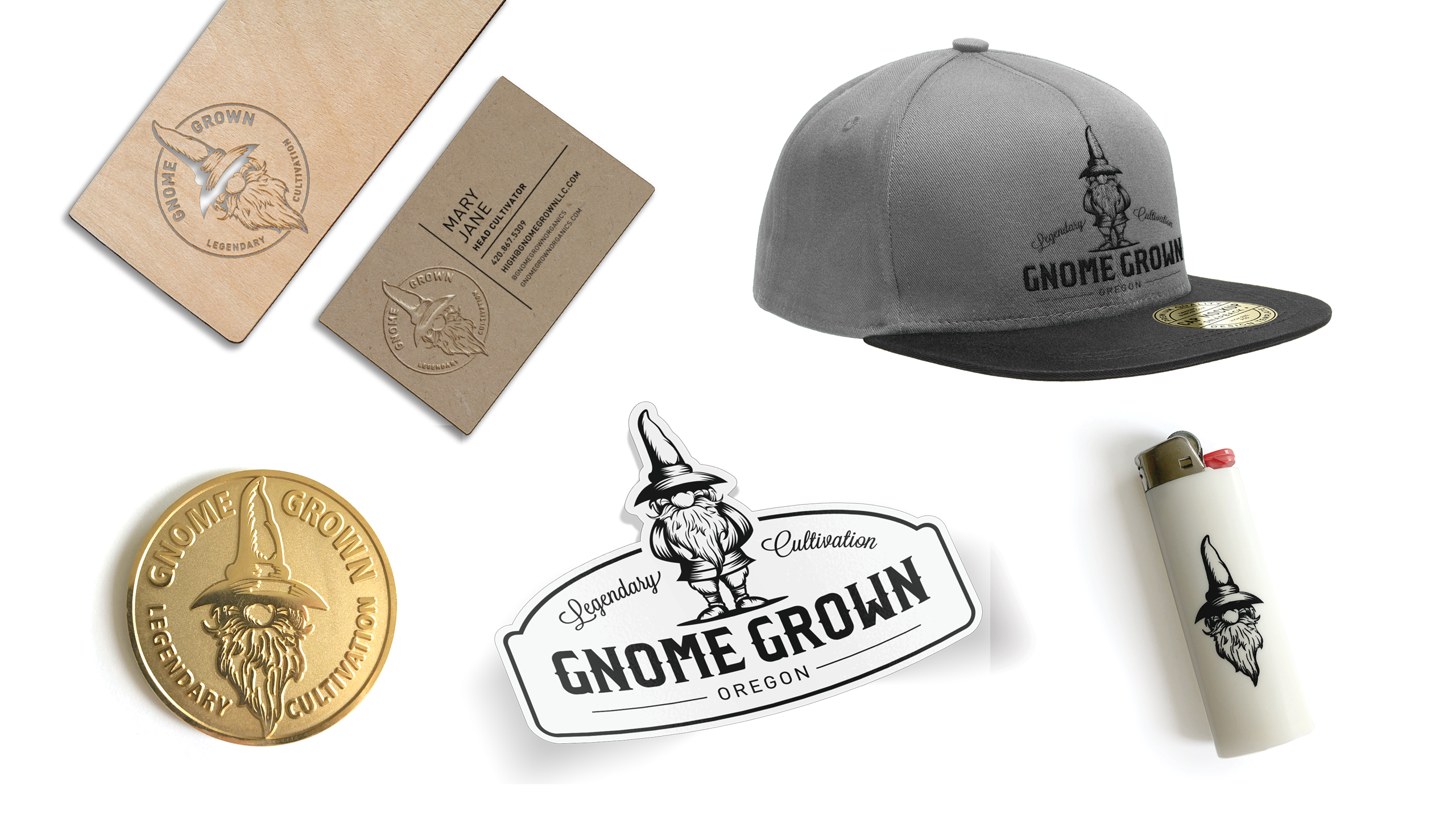 Gnome Grown Custom Apparel & Branded Collateral by High Road Design Studio