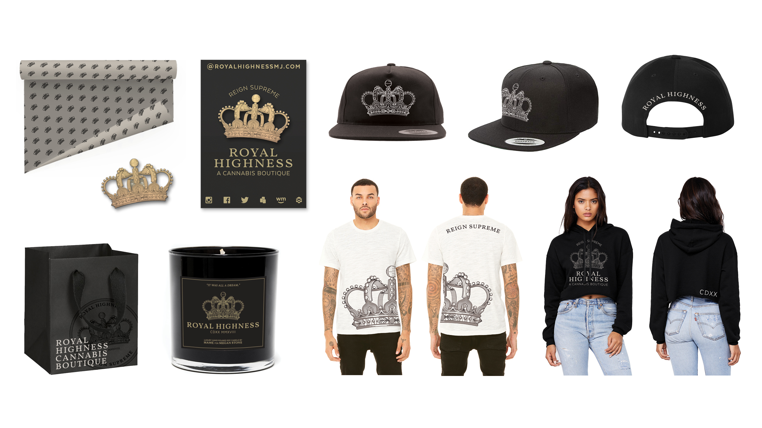 Royal Highness Custom Apparel & Branded Collateral by High Road Design Studio