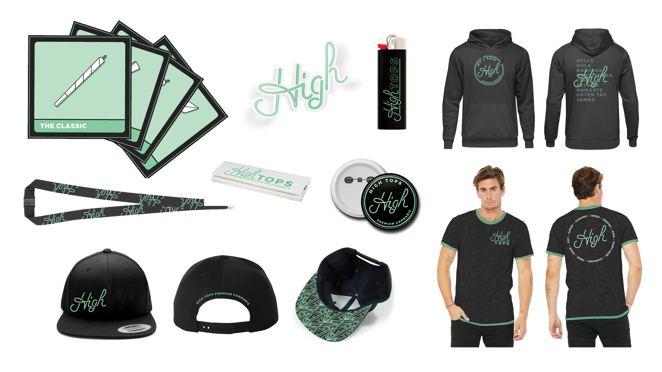 HIghtops Custom Apparel & Branded Collateral by High Road Design Studio