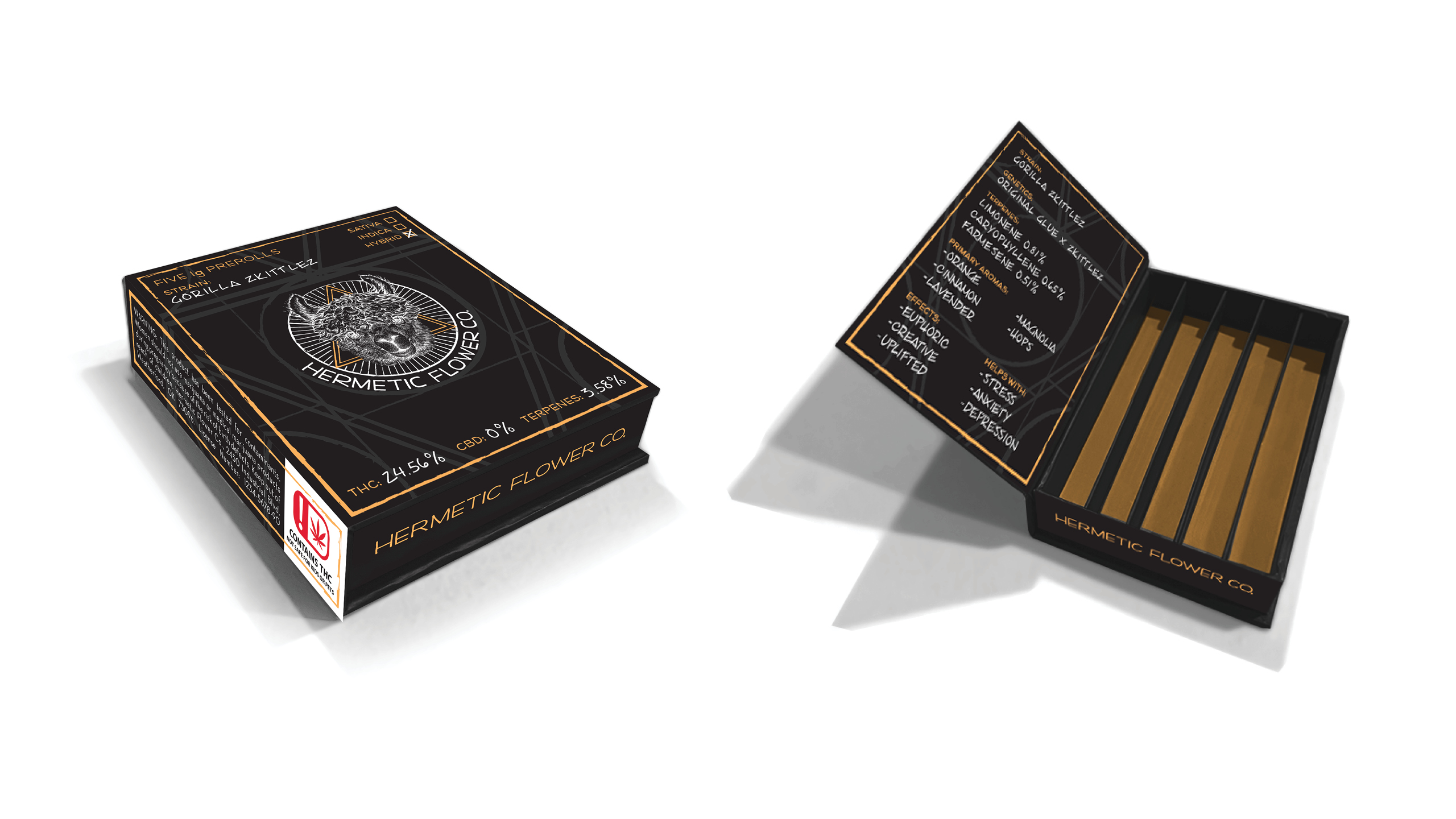 Hermetic Flower Company Product Packaging Design by High Road Design Studio