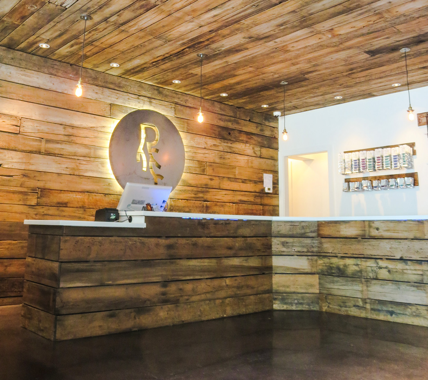 The Root Cellar Dispensary Design by High Road Design Studio