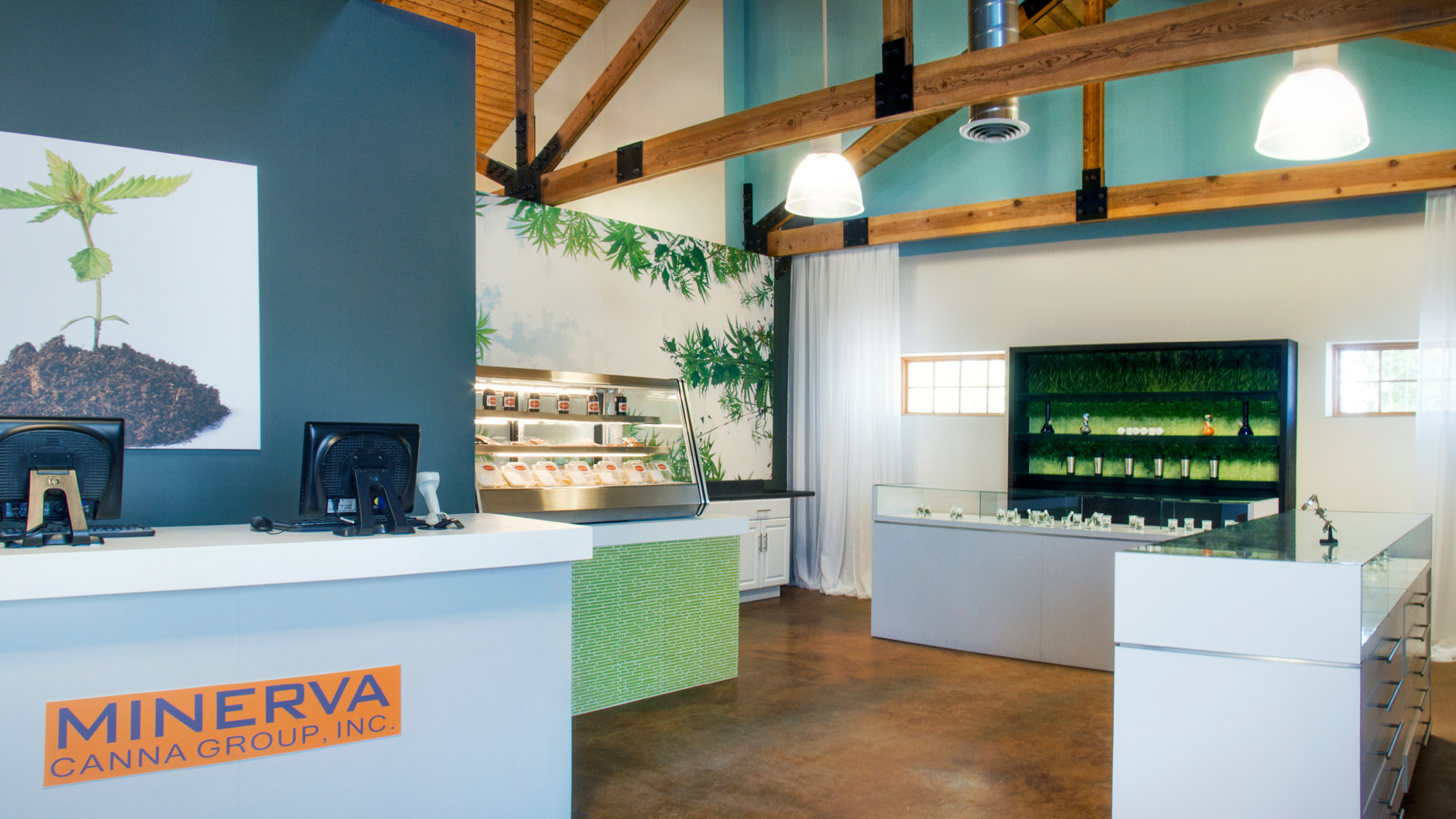 Minerva Canna Group Dispensary Interior Design by High Road Design Studio