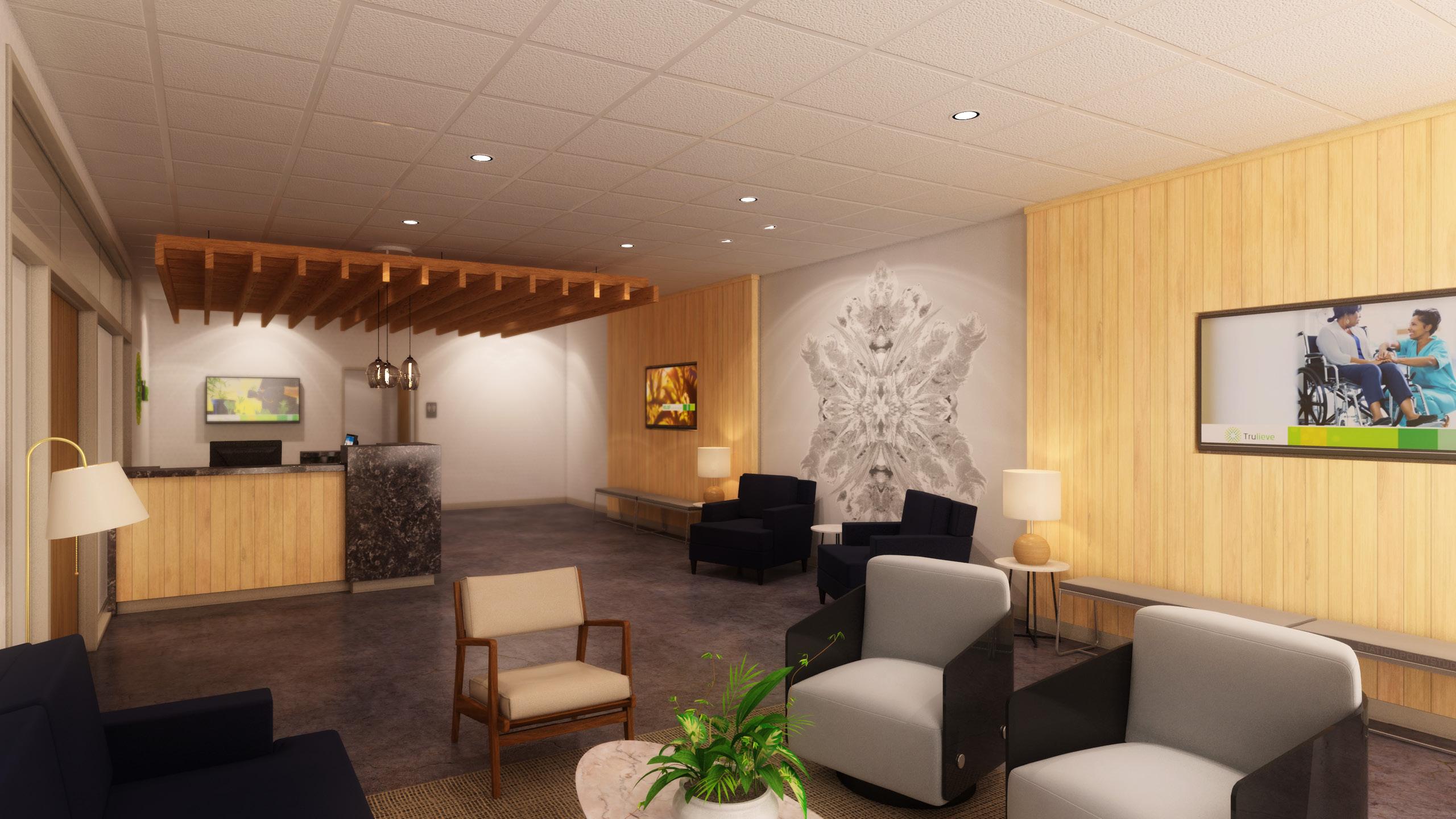 Trulieve Dispensary Interior Design by High Road Design Studio