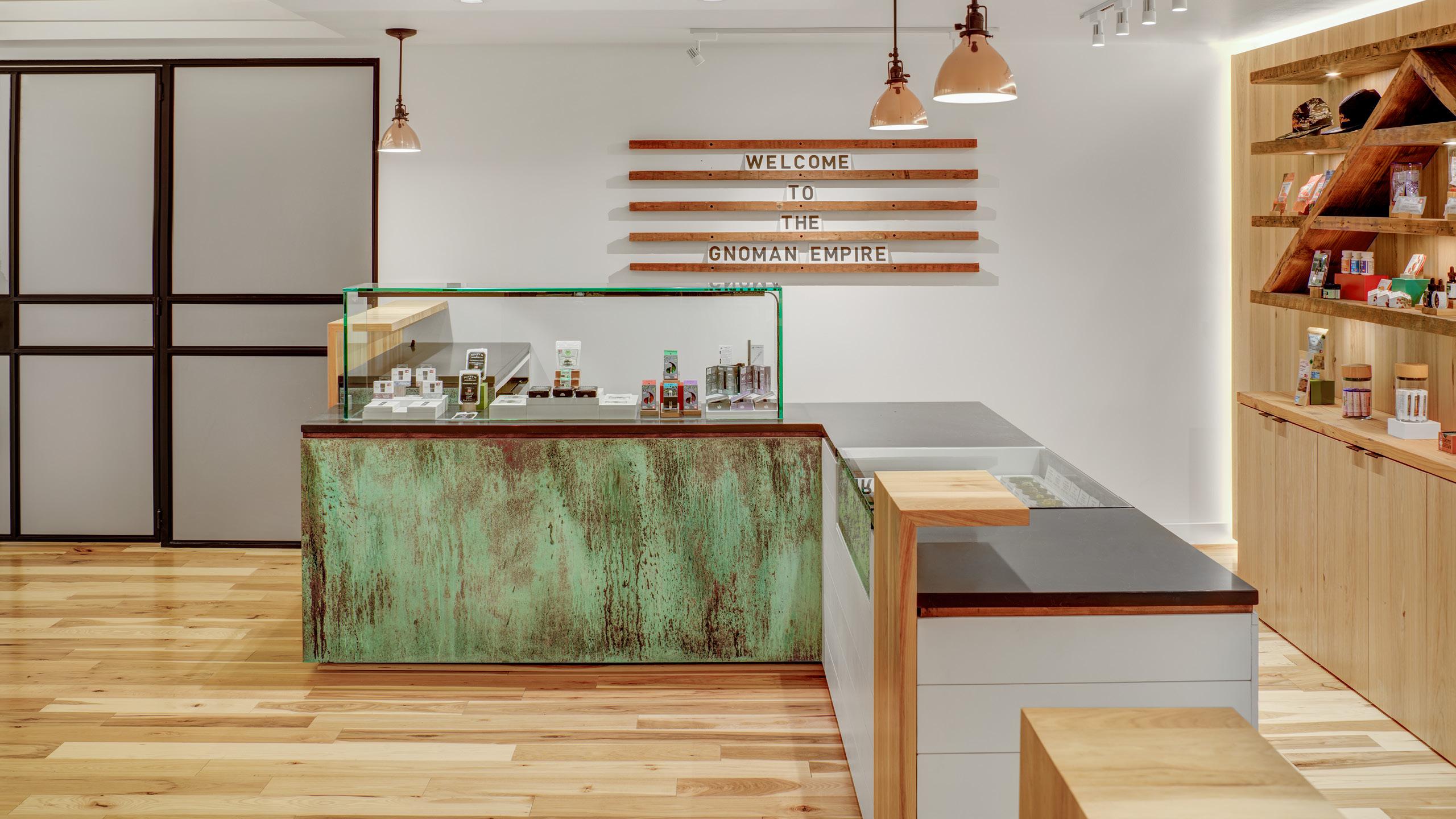 Gnome Grown Dispensary Interior Design by High Road Design Studio
