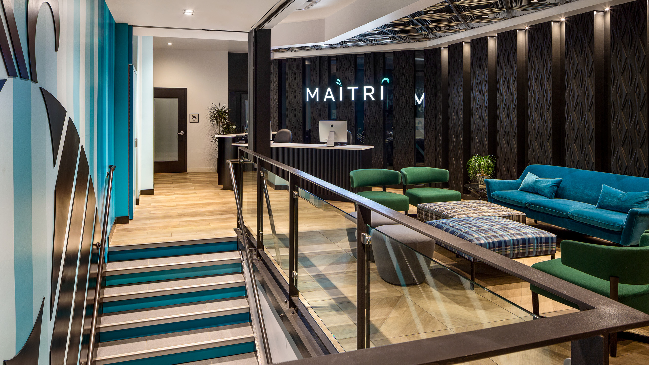 Maitri Pittsburgh Dispensary Interior Design by High Road Design Studio