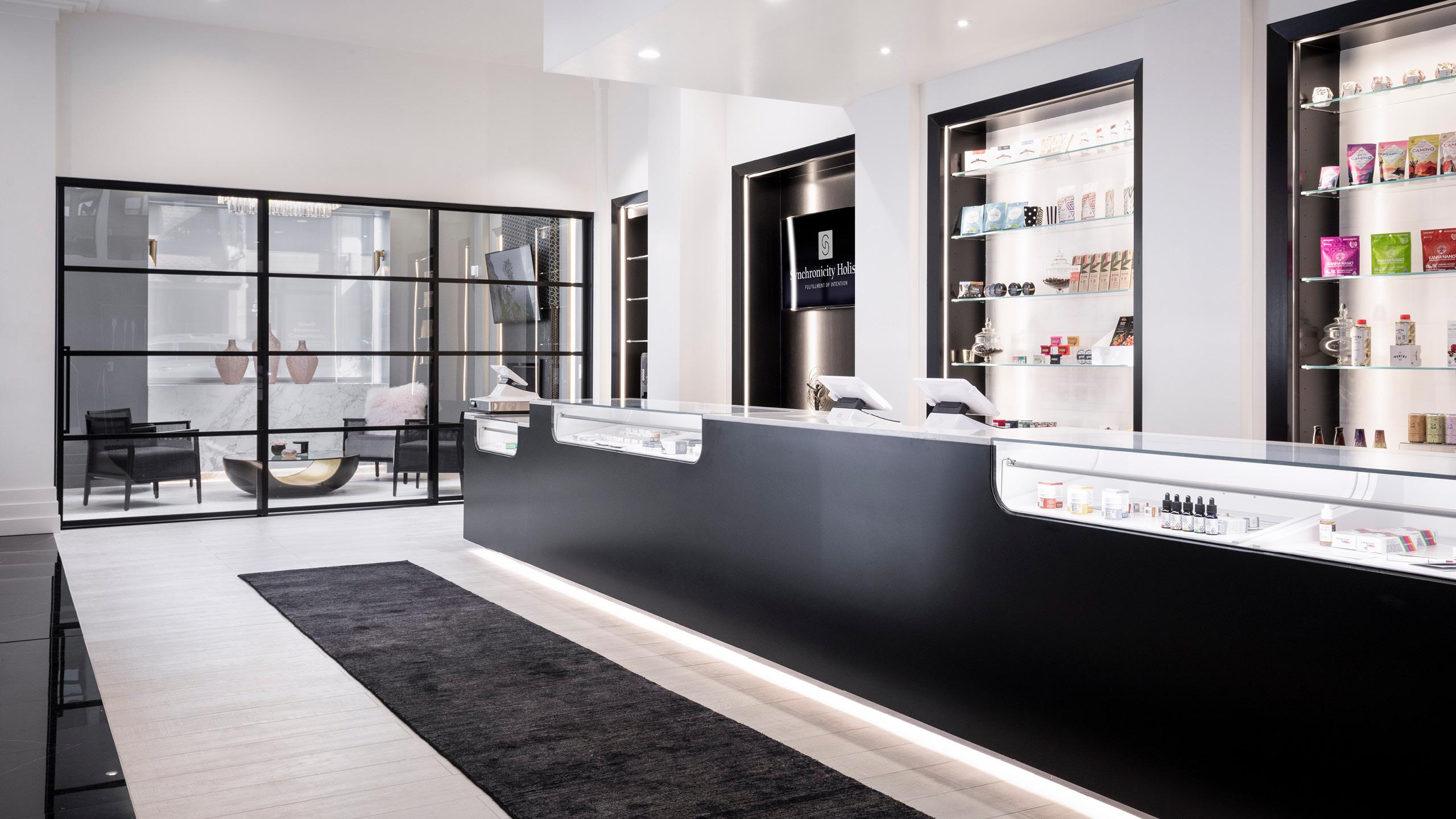 Synchronicity Holistic Dispensary Interior Design by High Road Design Studio