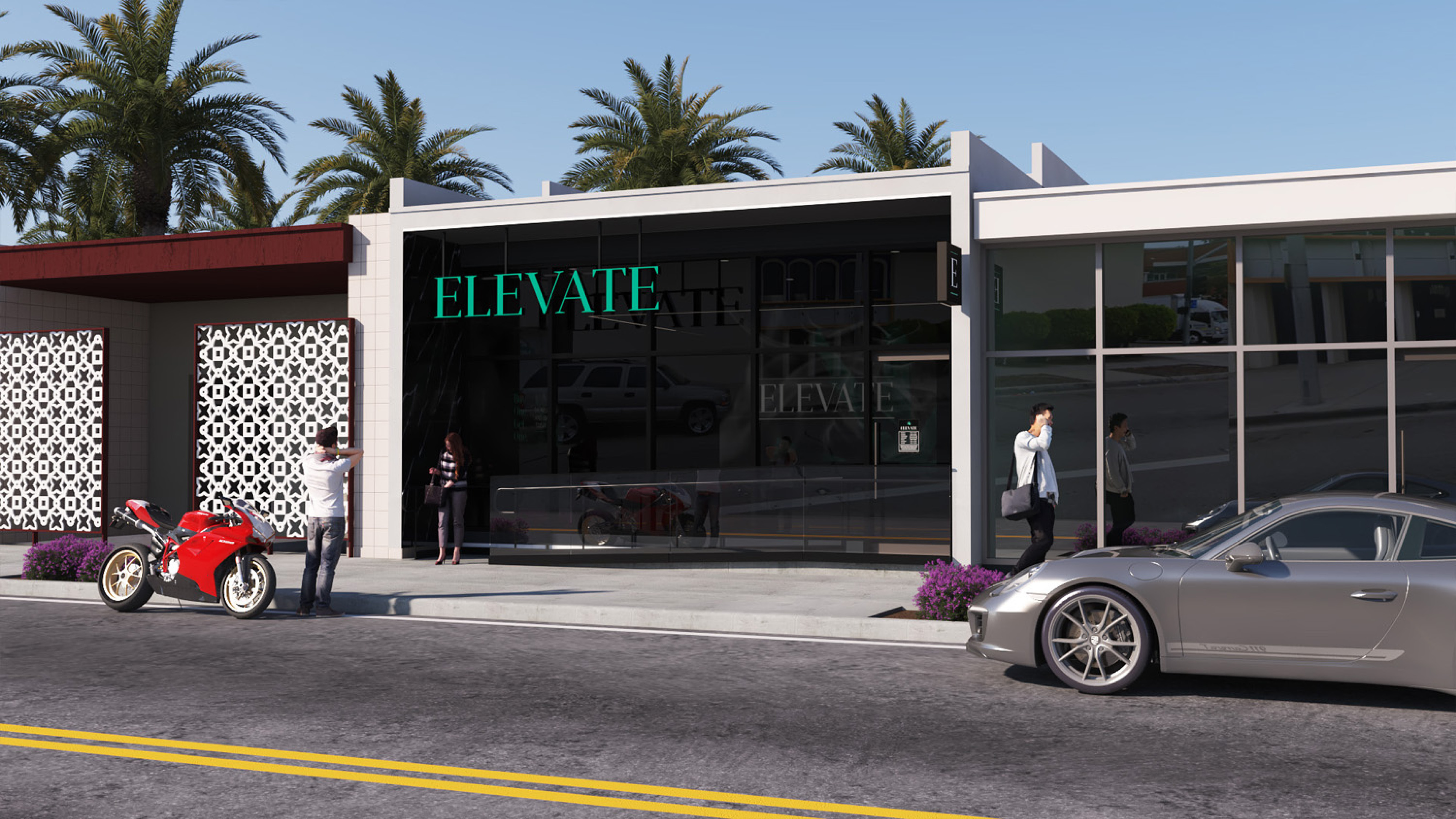 Elevate Dispensary in Oxnard CA. Retail Dispensary Design by High Road Studio, coming soon.