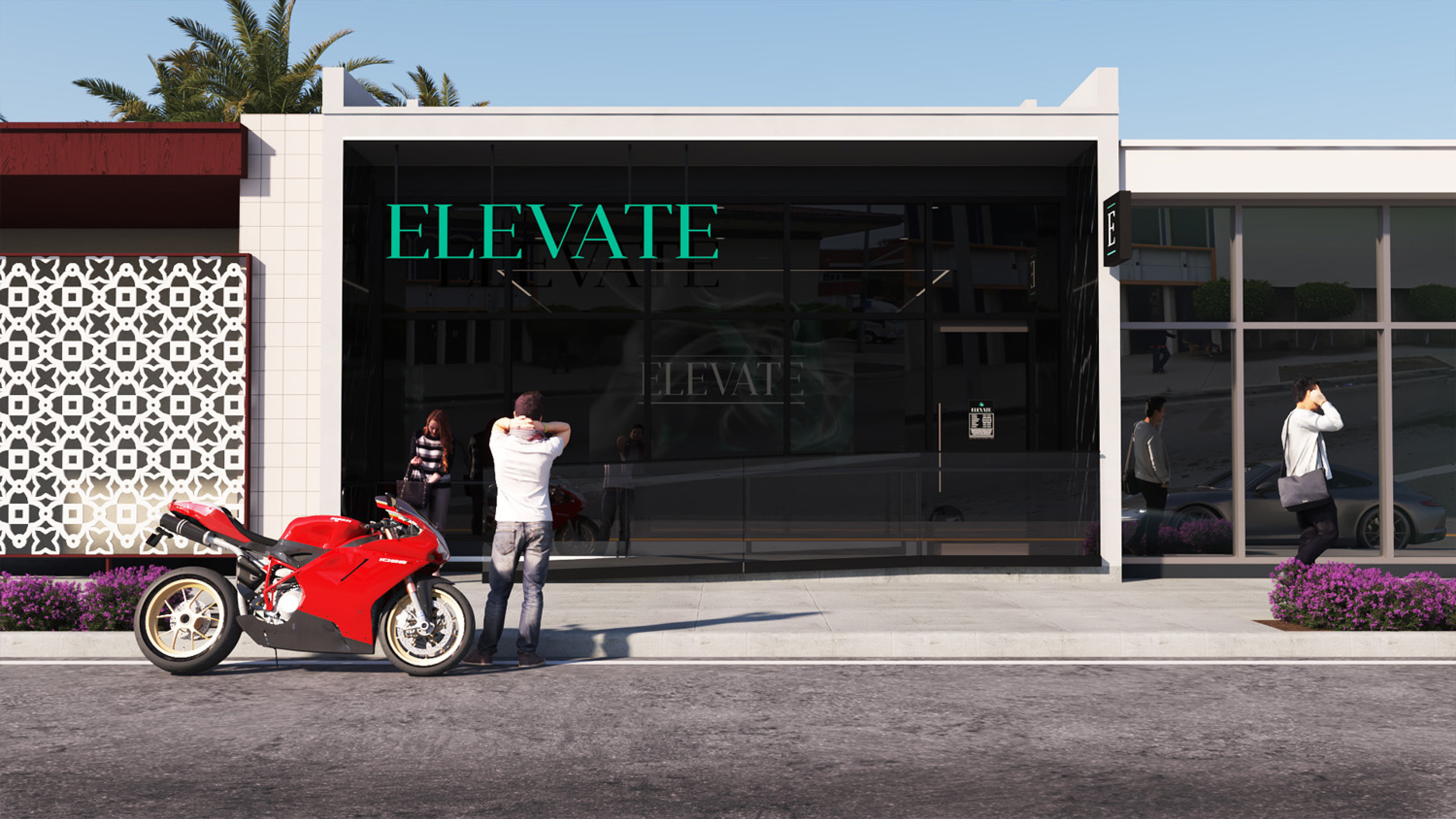 Elevate Dispensary in Oxnard CA. Dispensary Design by High Road Studio, coming soon.