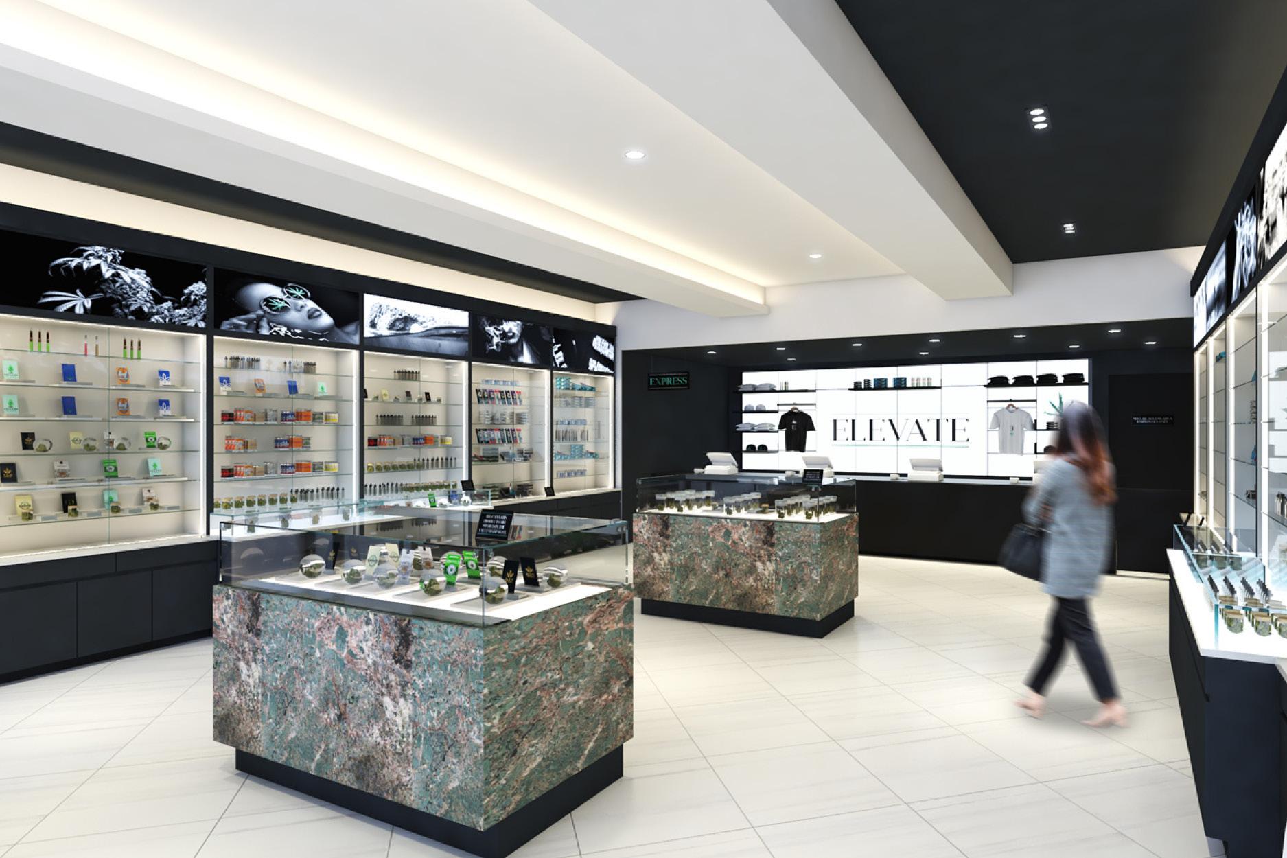 Elevate Dispensary in Vineyard, CA - Retail Interior Design by High Road Studio - Coming Soon