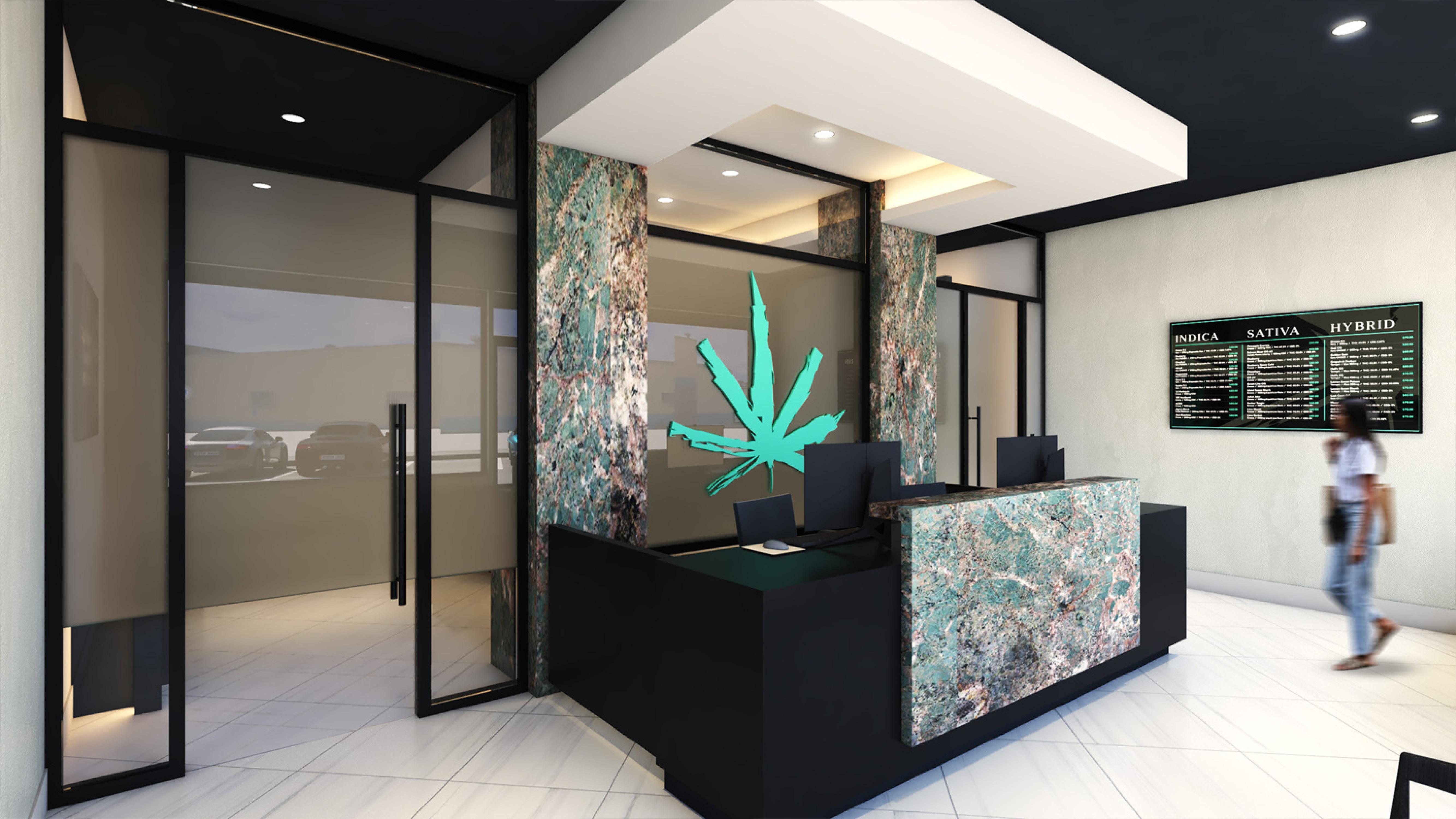 Elevate Dispensary in Vineyard, CA- Interior Design by High Road Studio - Coming Soon