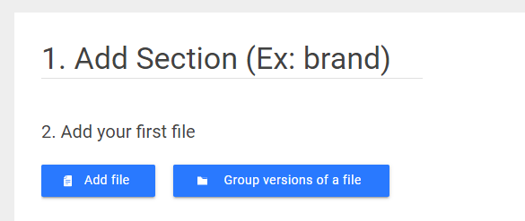 add file blank section