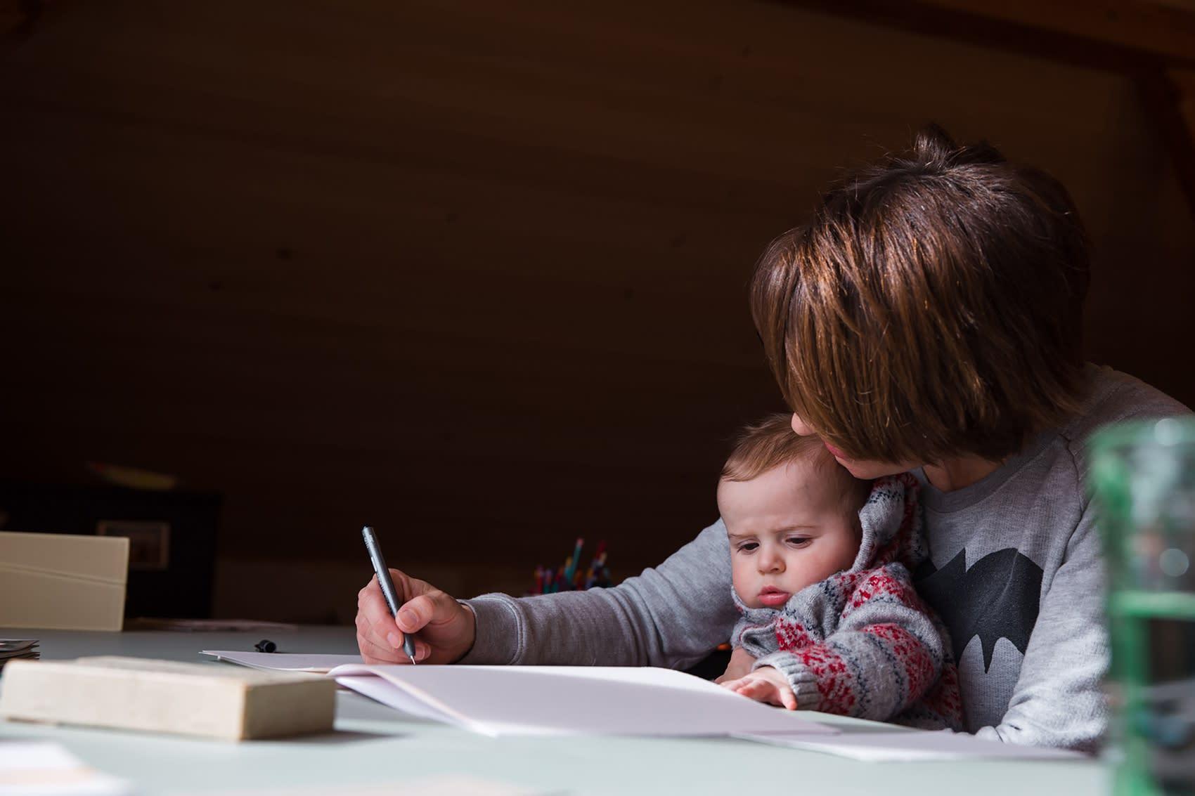 anna stemmer dworak, with her baby, art practice