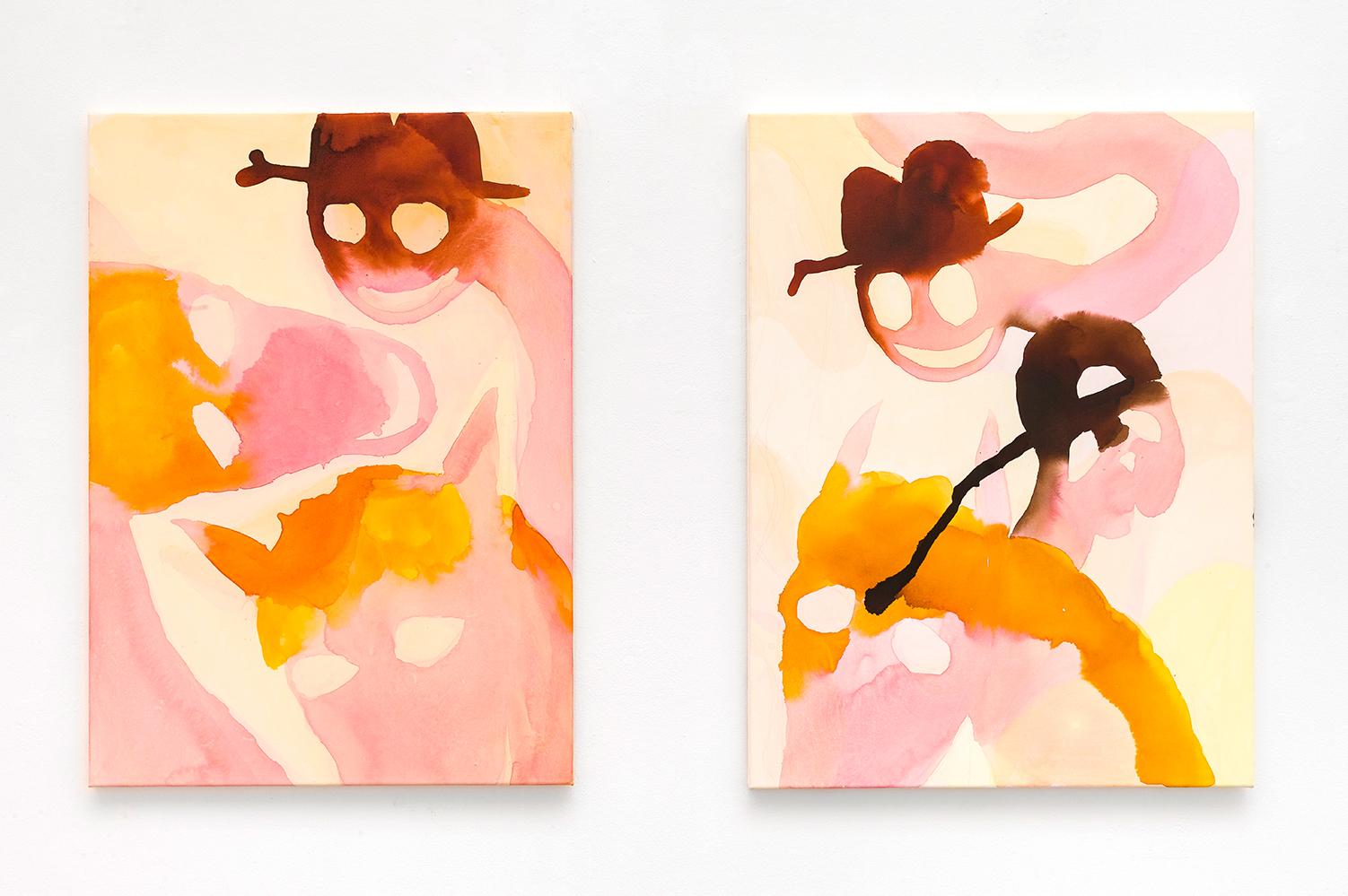 sarah bogner, pink horses, female artist