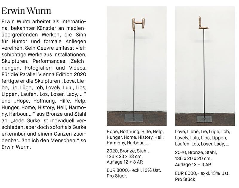erwin wurm , sculpture, edition at parallel, art fair vienna