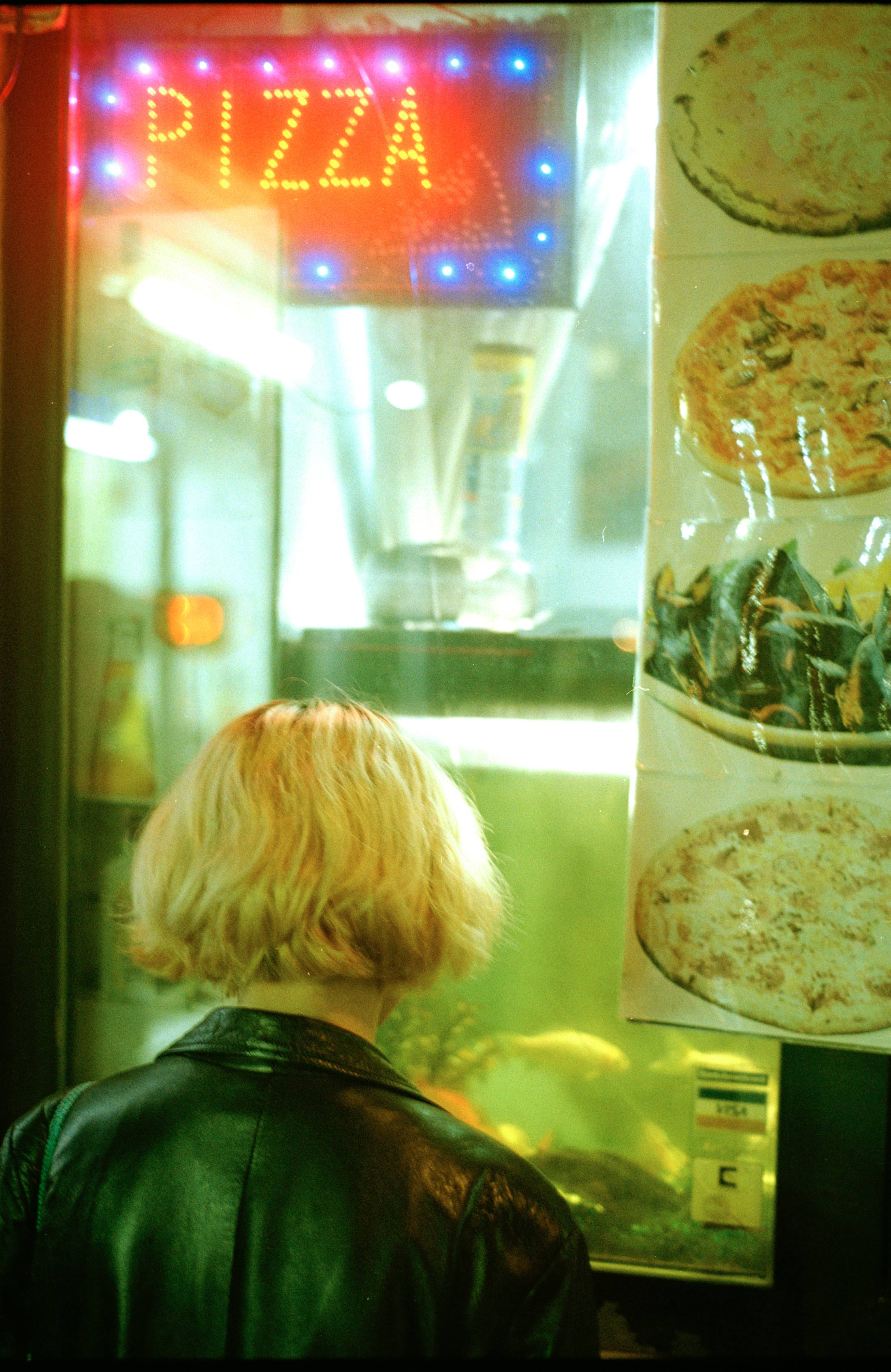 paula hummer, photography, 35mm, color, pizza, girl, online viewing room, discover modern art