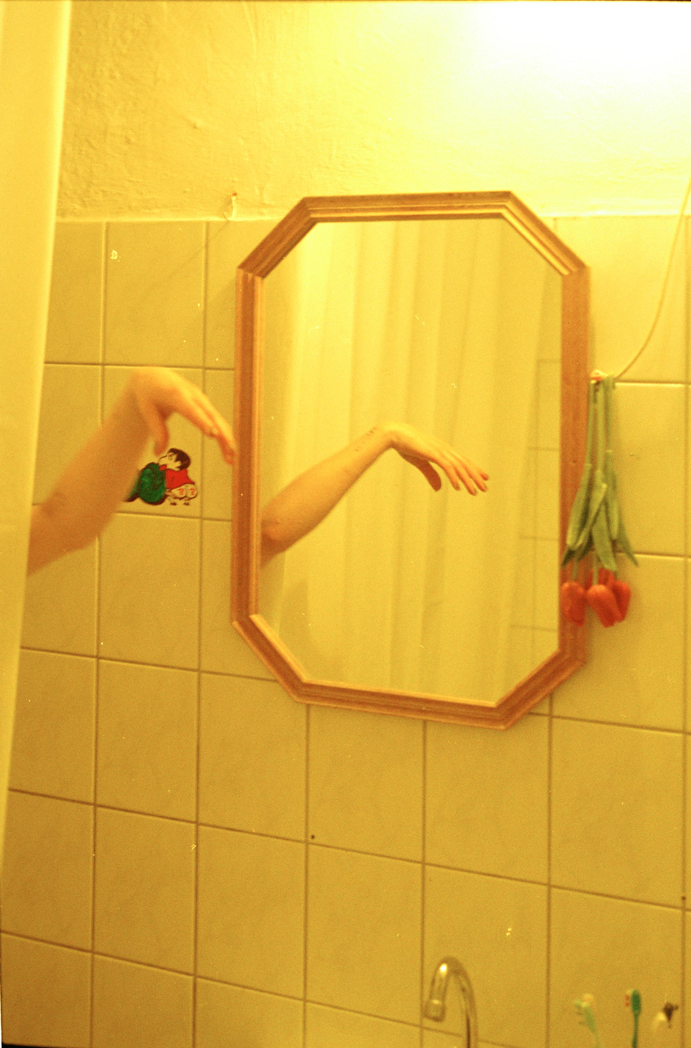 paula hummer, yellow, photograph, in the shower, intimacy, beautiful picture, interior, online art to buy