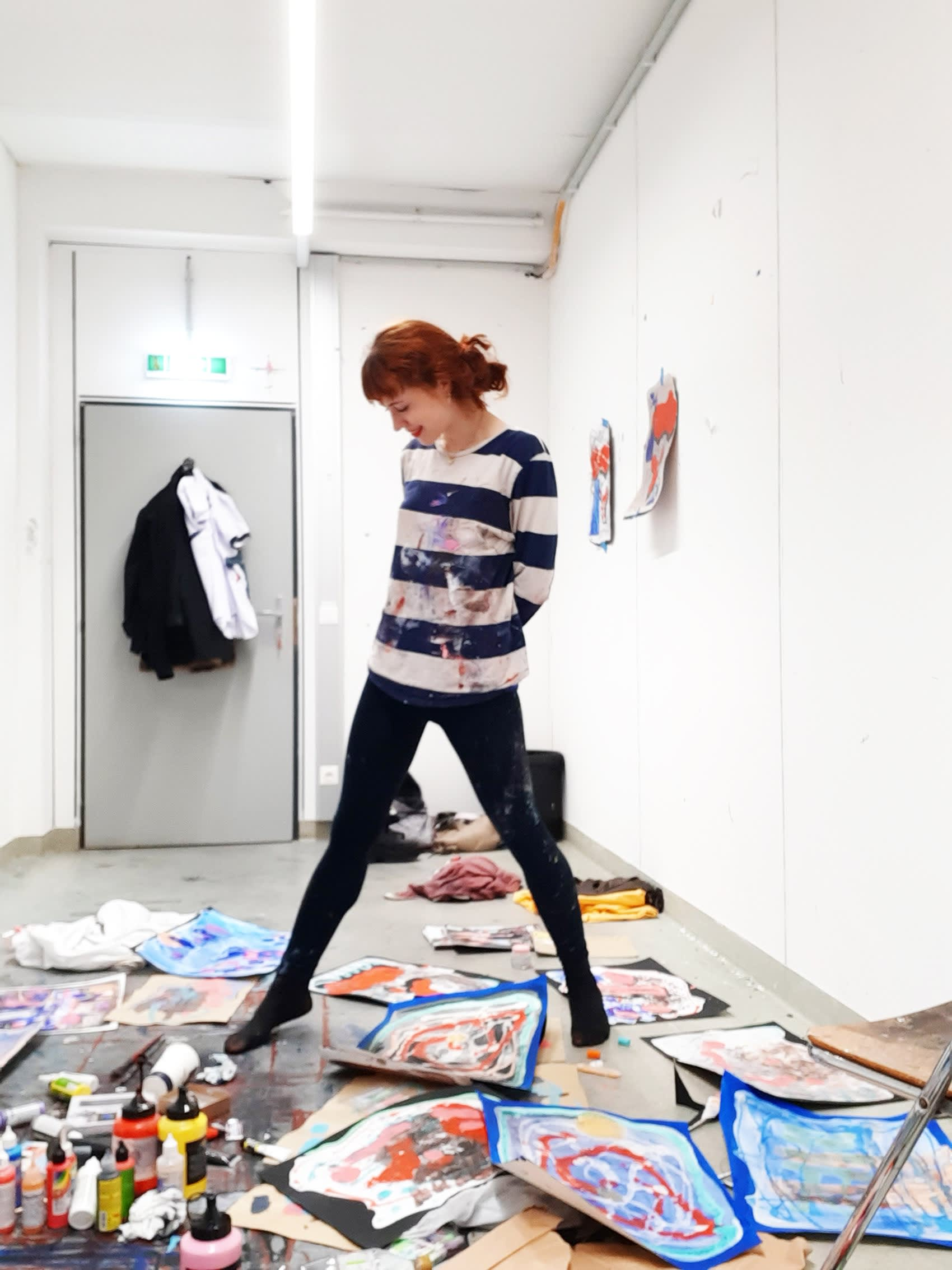 dancing in the artist studio with alexandra feusi, munchies art club