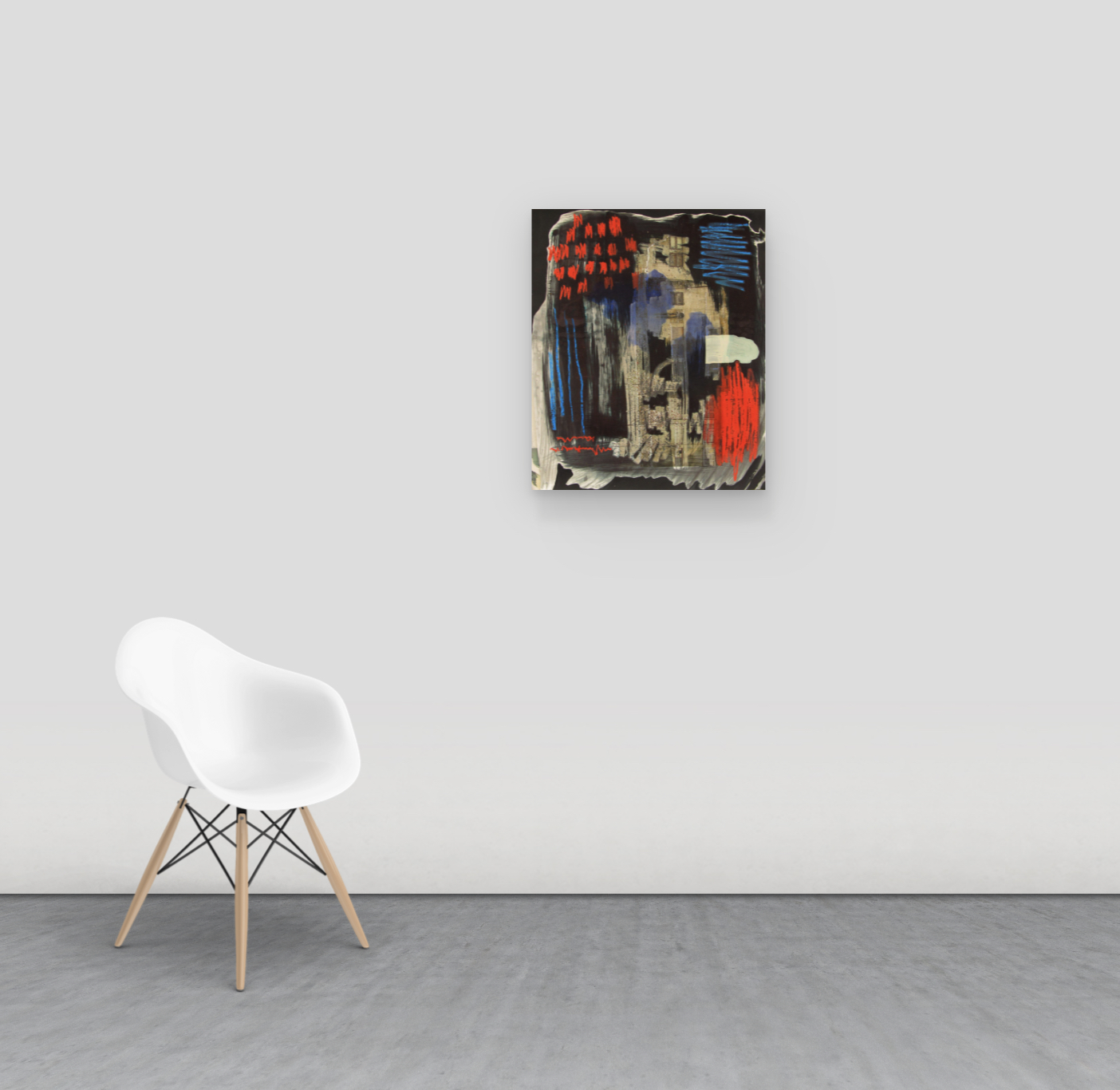alexandra feusi, young artist to collect, painting on the wall,