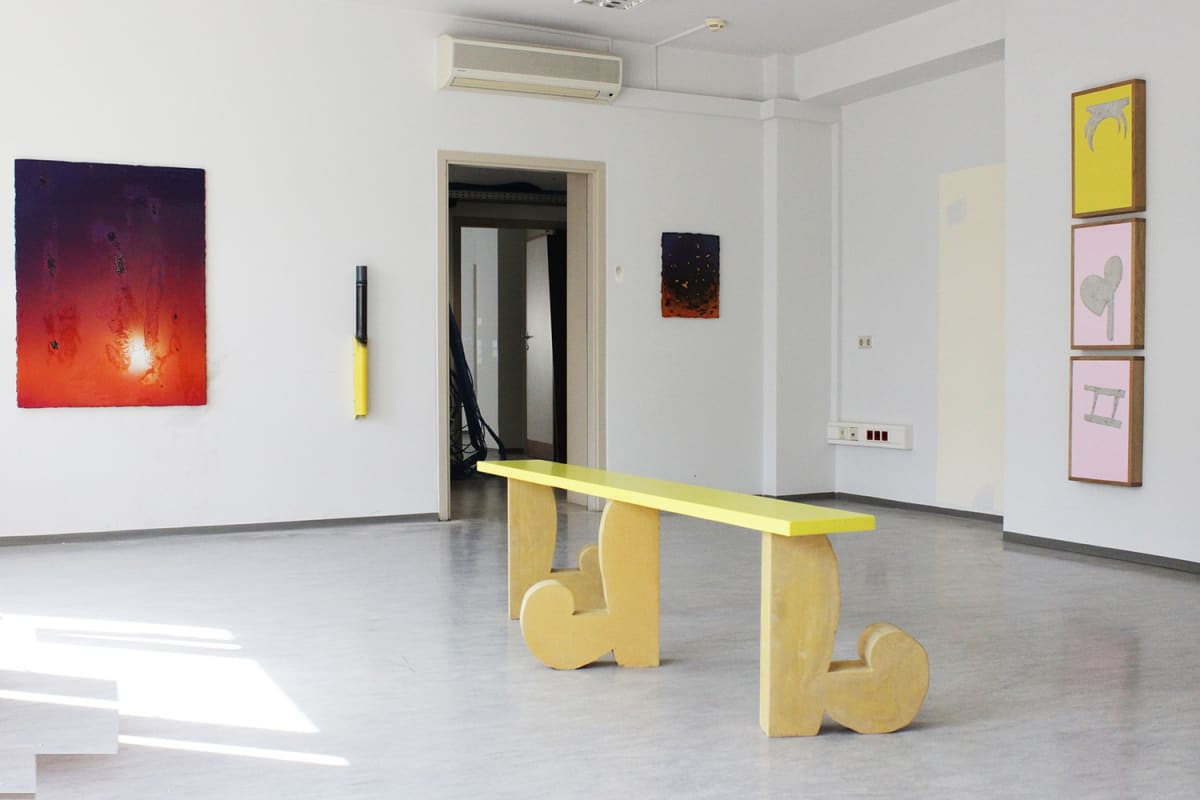 parallel vienna 2020, exhibition view, marusa sagadin, thilo jenssen, koenig 2, robby greif