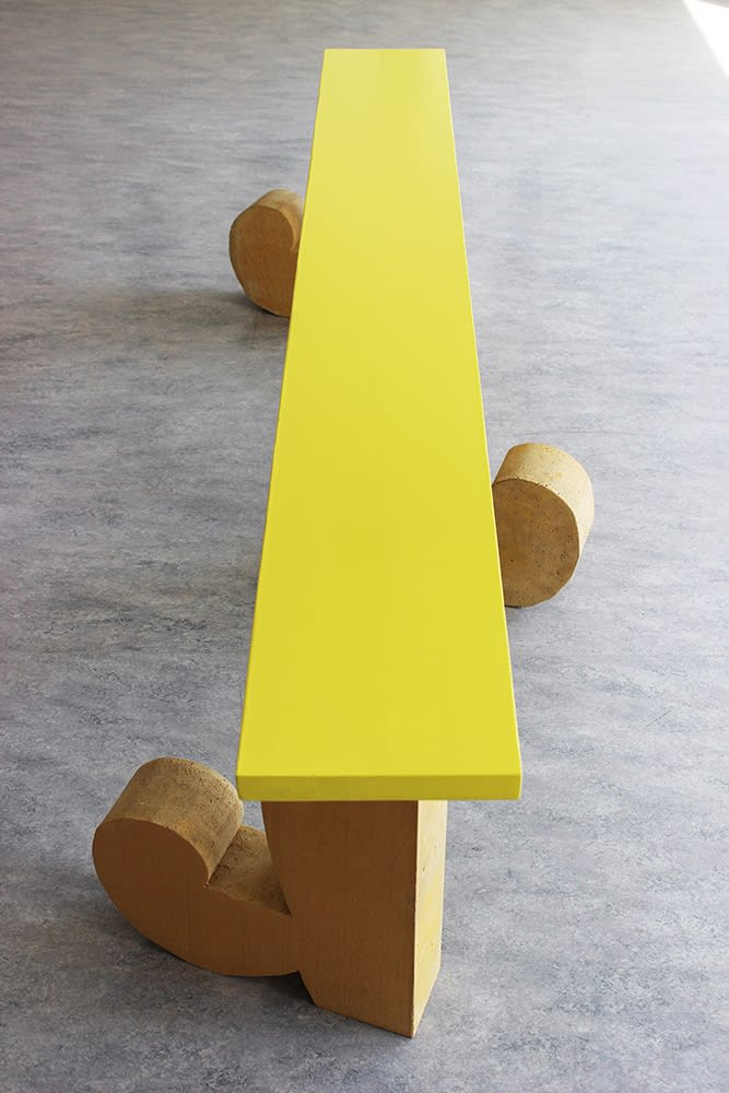 marusa sagadin, artist,  artwork, yellow bench