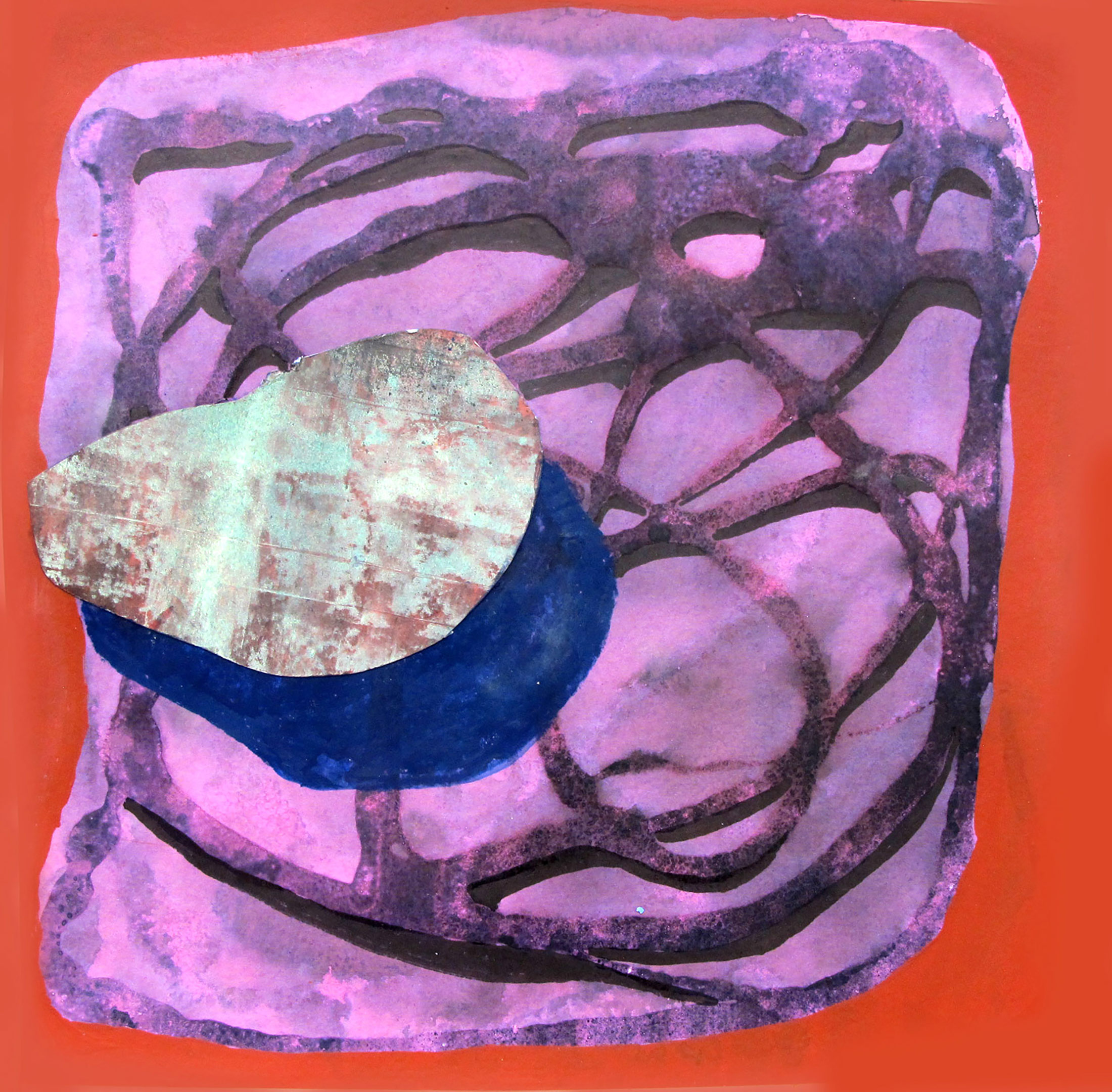 alexandra feusi, female contemporary artist, oil pastel, color, works on paper, original piece