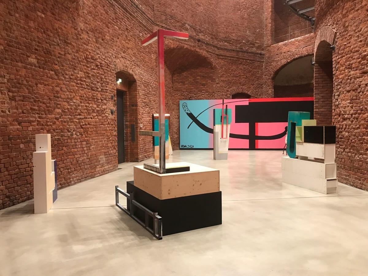 german contemporary artist, christian henkel, installation view