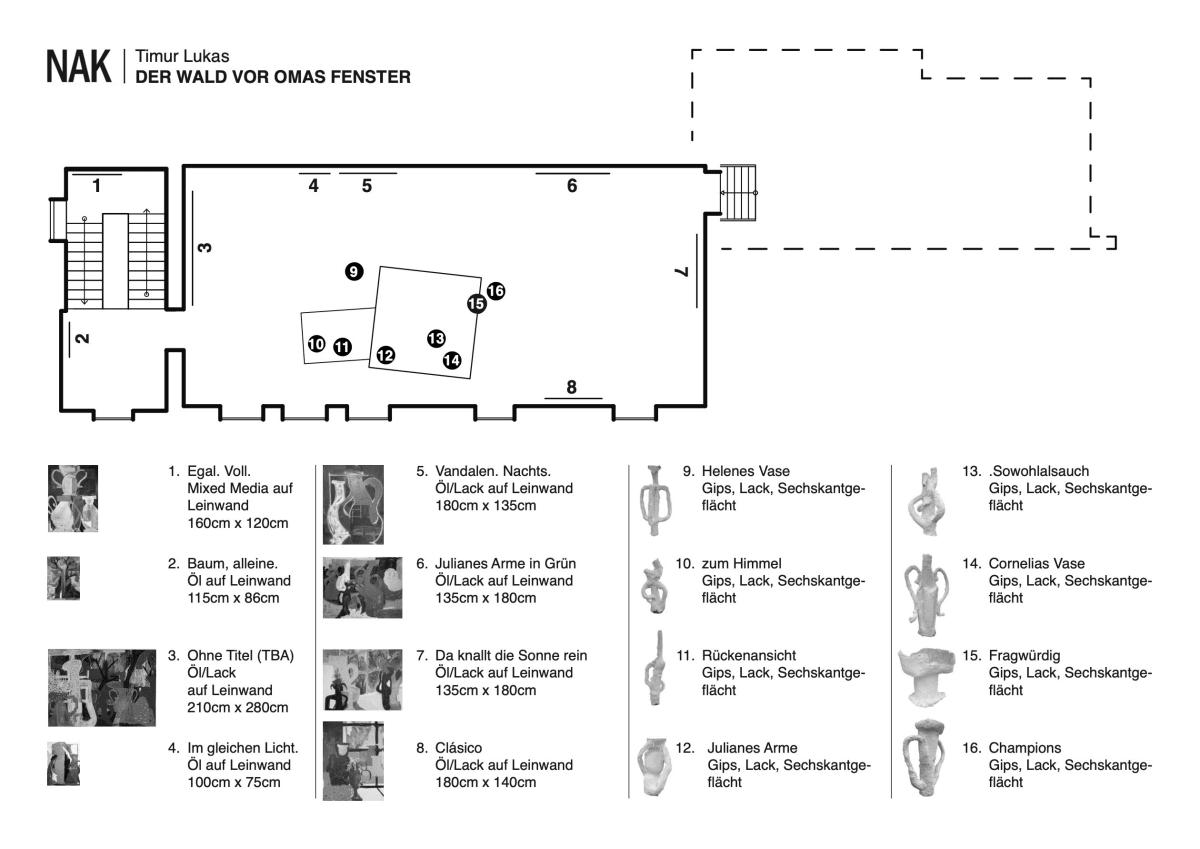 Neuer aachener Kunstverein NAK Raumplan Ausstellung