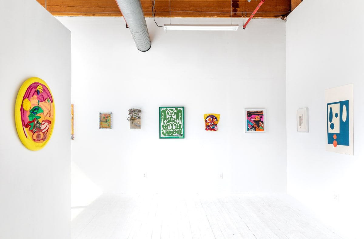 hans gallery, chicago, group show , Collage, exhibition view, multiple artworks, nada, new art dealers