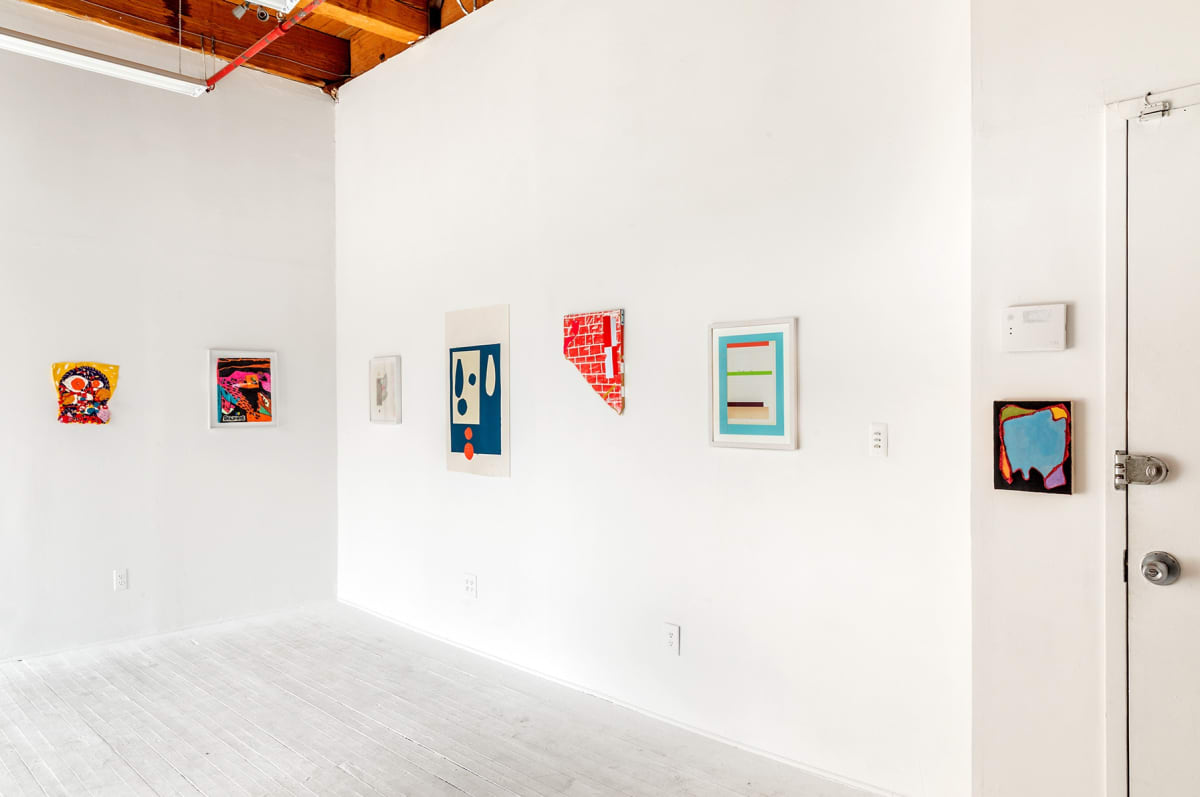 new art dealers alliance, chicago, hans gallery, group show collage at the hg gallery in chicago