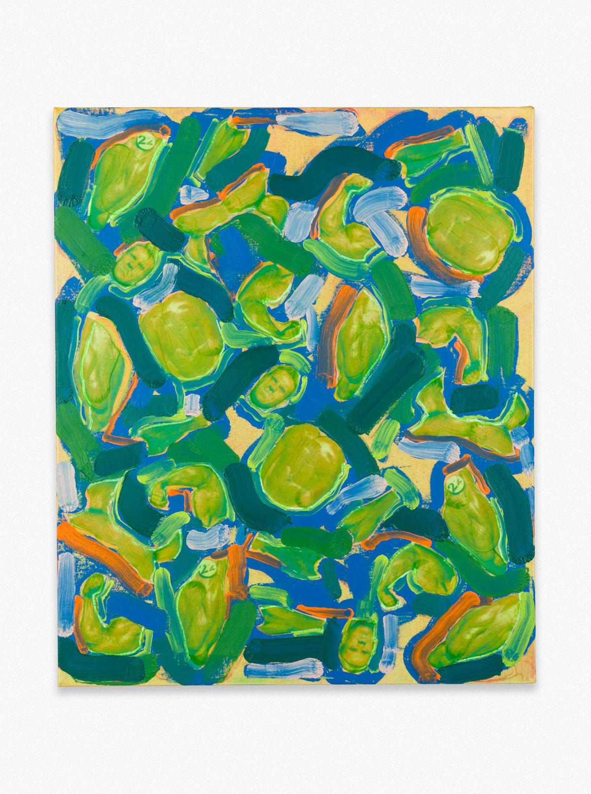 collage in green of Teenage Mutant Ninja Turtles