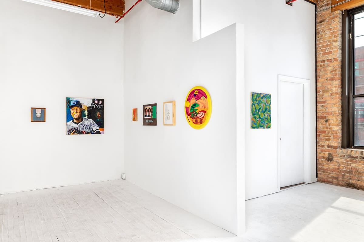 image shows the gallery Hans group show collage