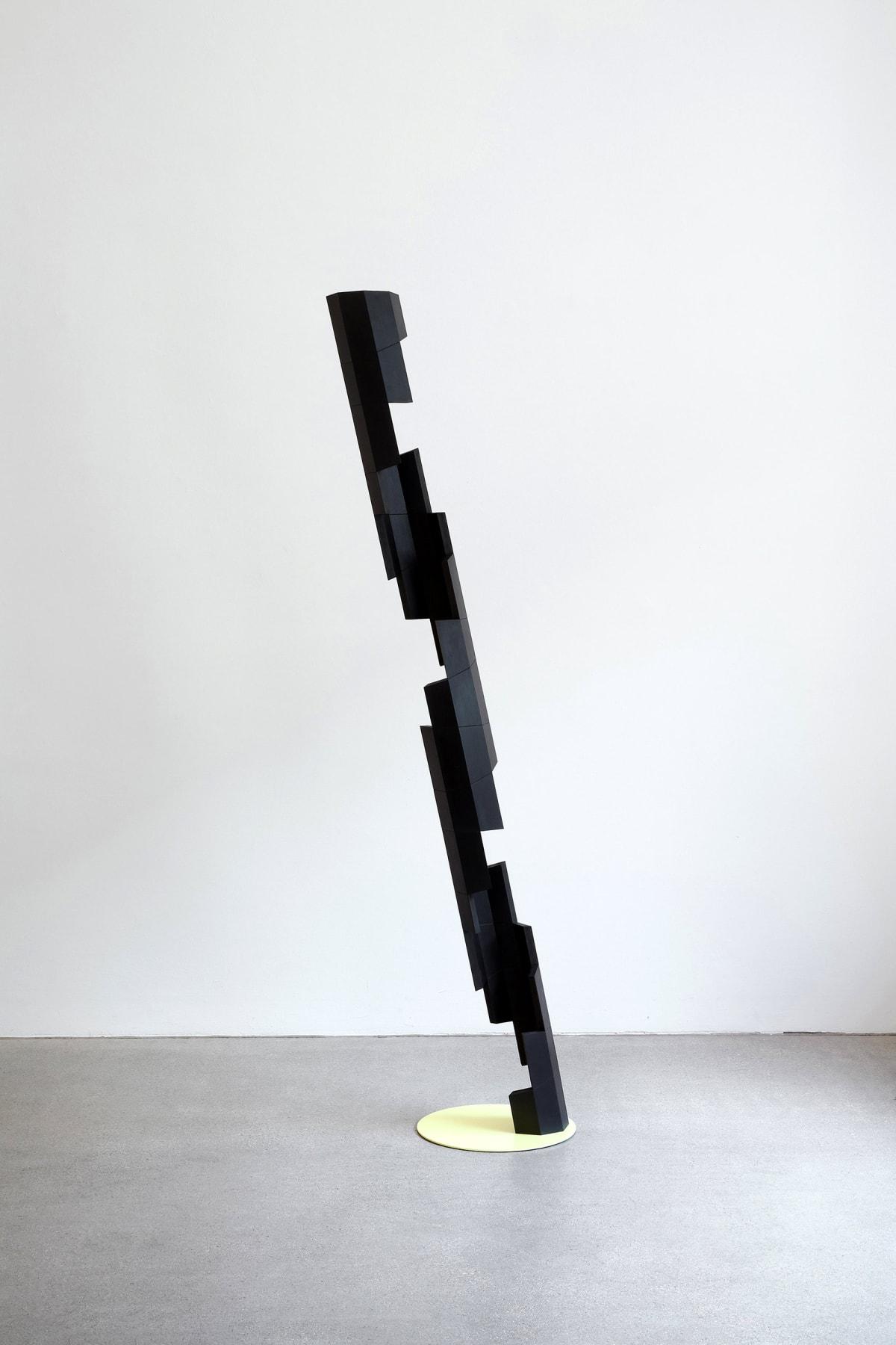 roman pfeffer, artist, transart, a black metal sculpture by artist Roman Pfeffer