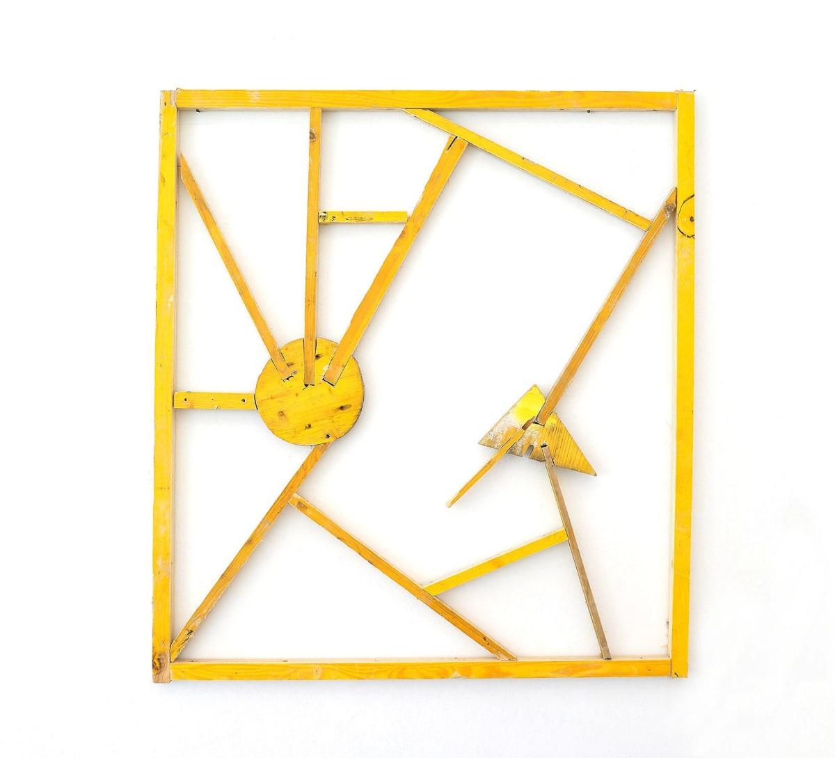 ernst koslitsch shows a filigree sculpture from yellow building site wood