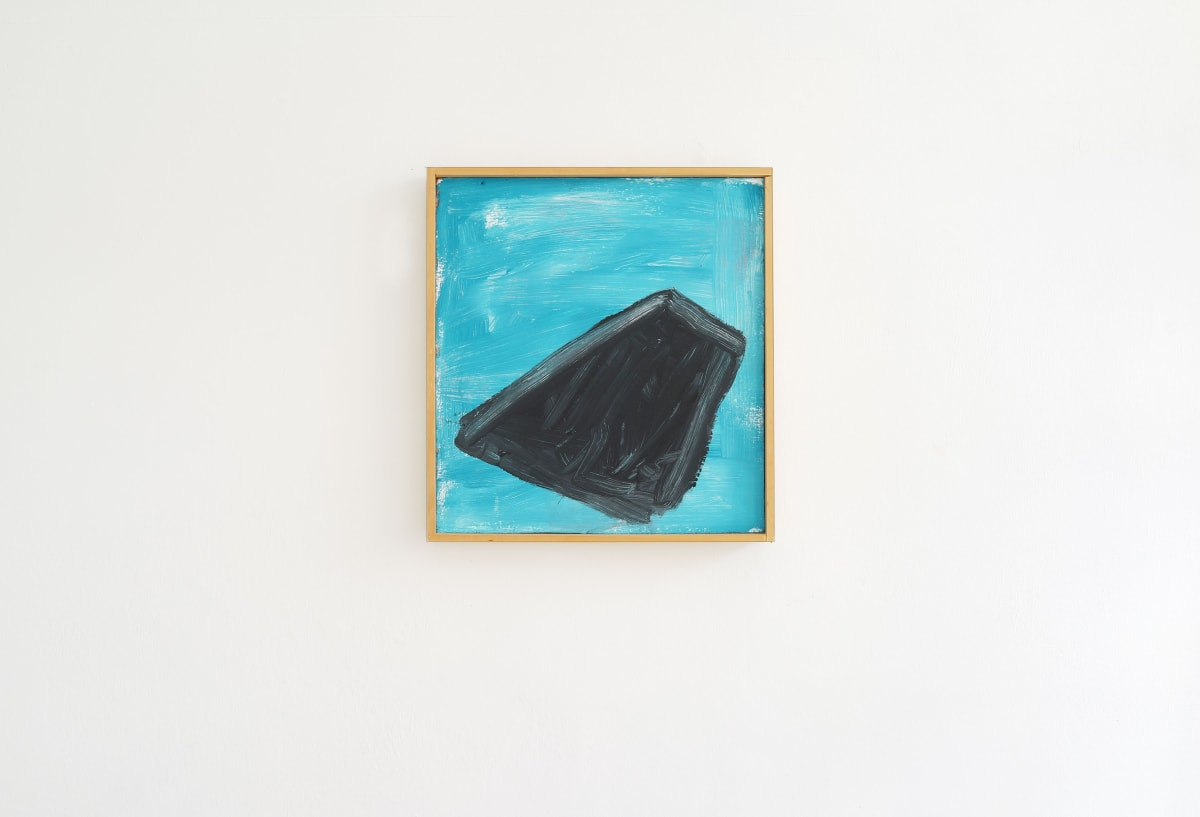 ernst koslitsch artwork shows a blue sky with a black object that could be a UFO