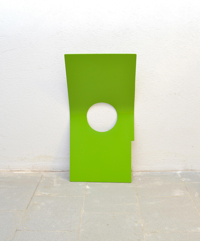 wallpiece, artwork, contemporary minimil art, ehgartner emanuel, green, caipirinha