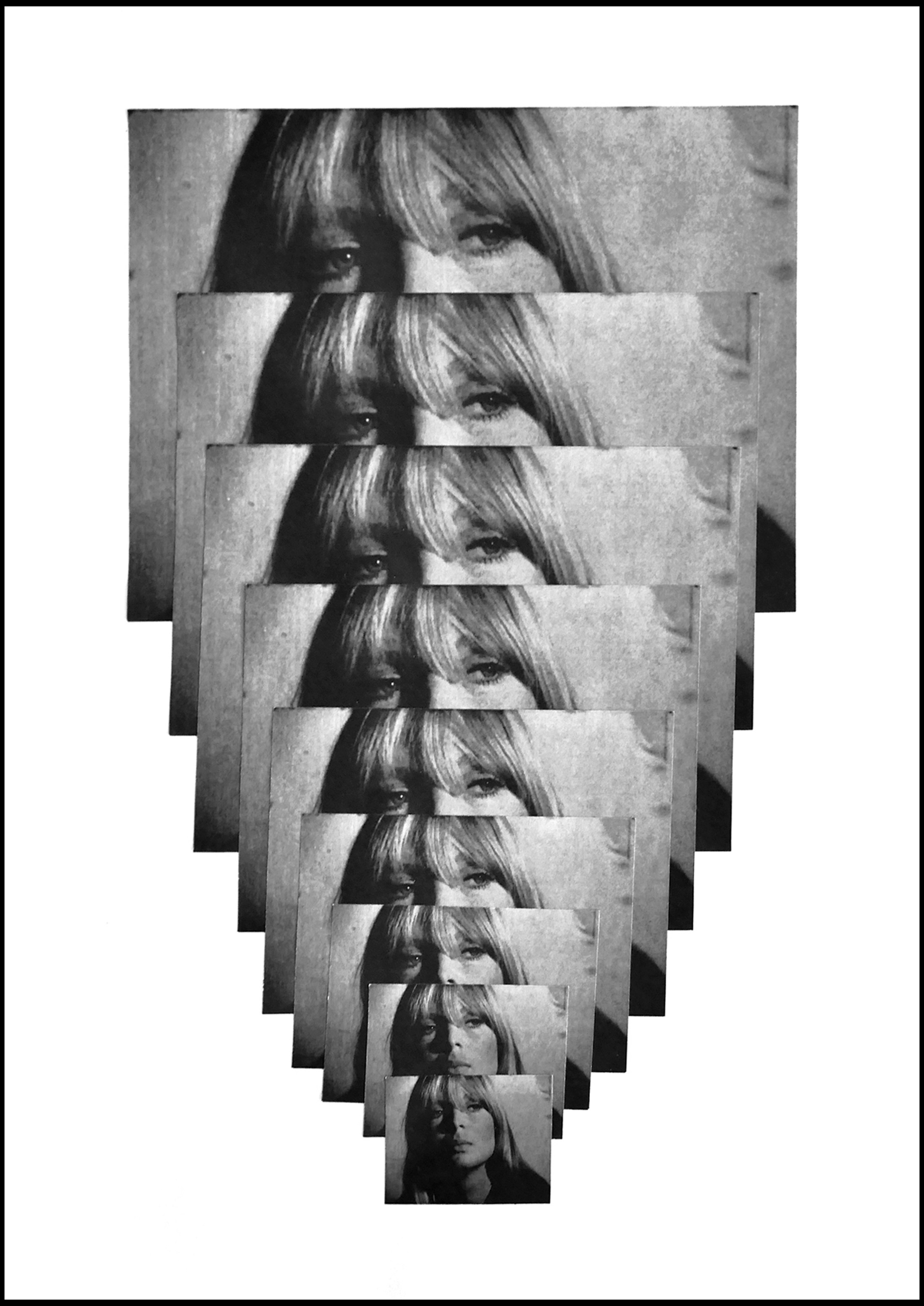karin fisslthaler, contemporary female artist, collage, cut-out, black and white, photocopies