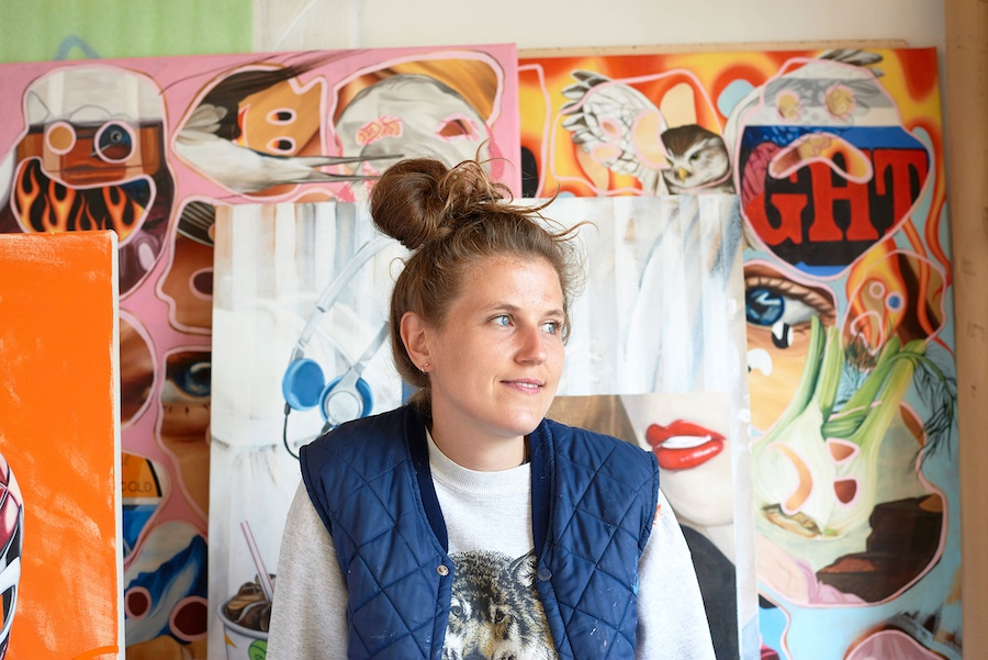 portrait of the artist, bex massey, munchies art club, contemporary art platform , read about it, features,