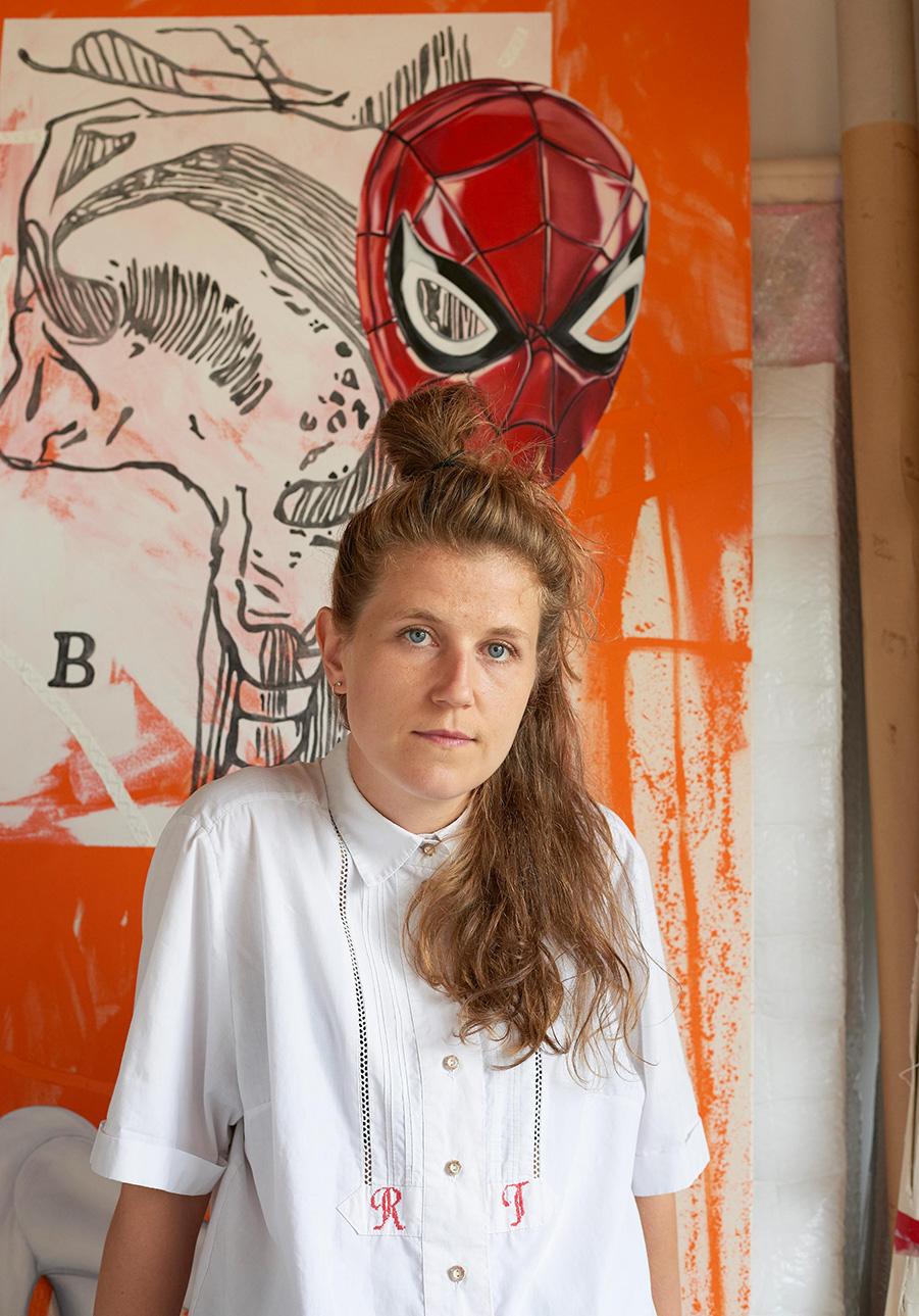 bex massey, studio portrait, focus artist, munchies art club,