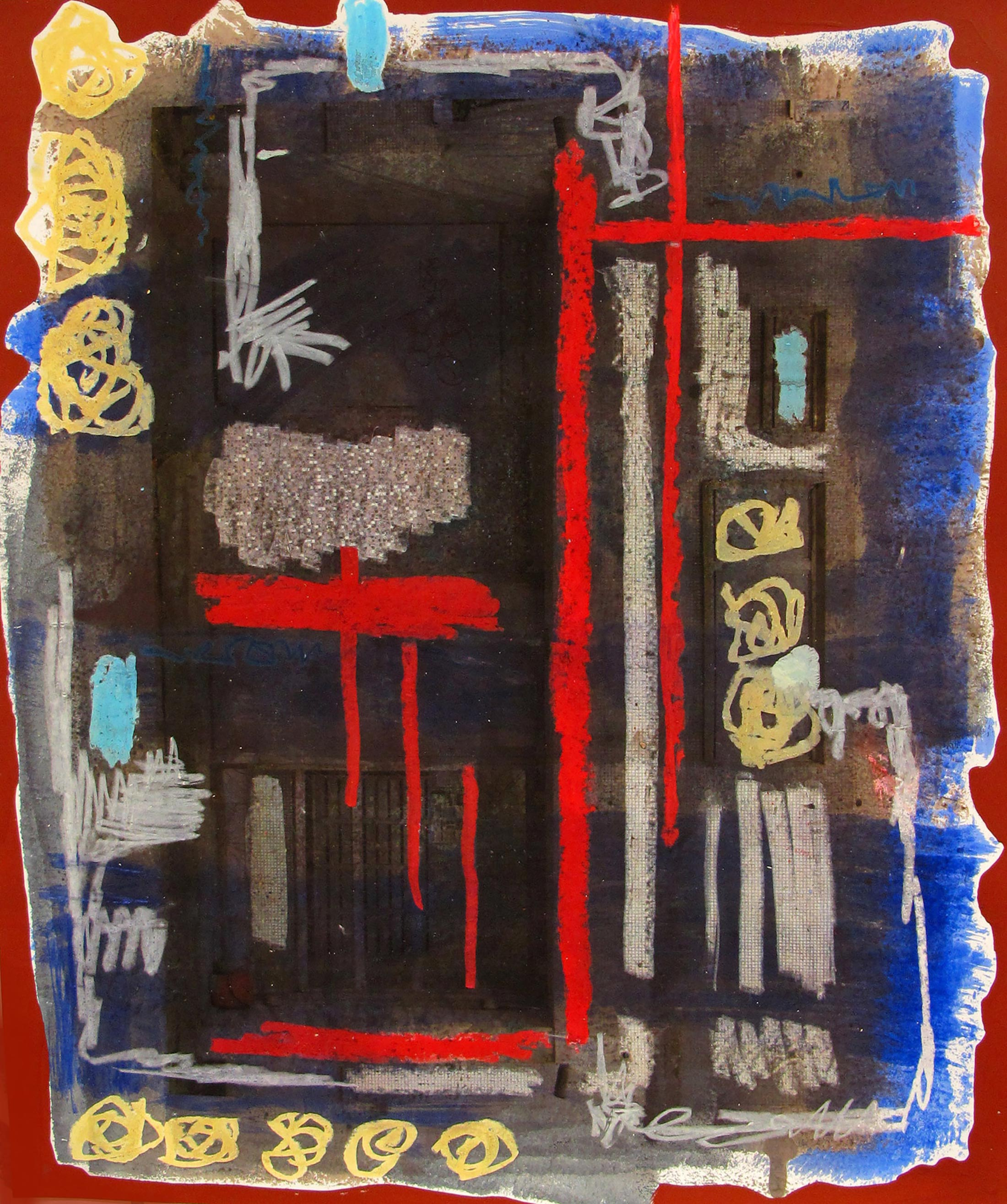 abstract painting, alexandra feusi, student of academy of fine arts vienna