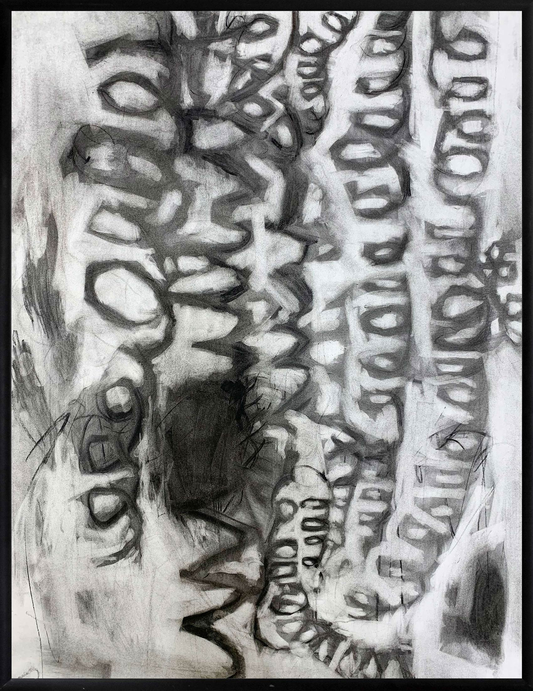 pencil drawing, art student, monocrome, art, emerging, collect and buy art, charcoal on paper