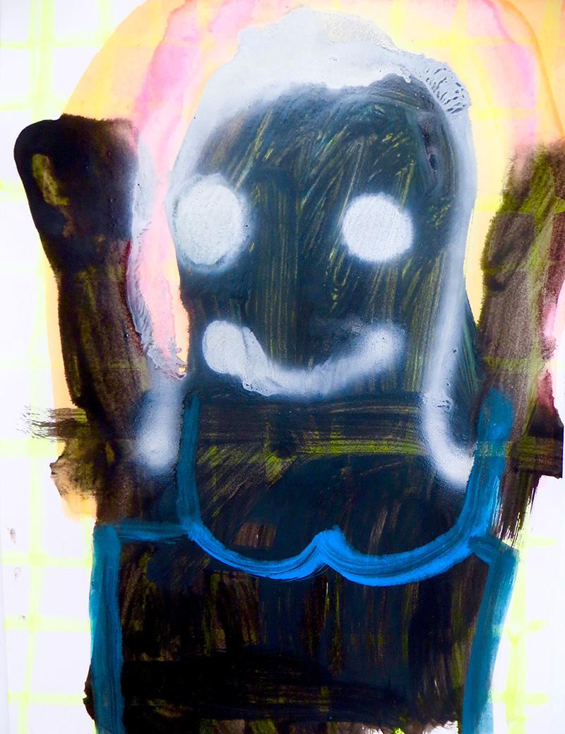 outsider artist, spain, gabrielle graessle, figurative , colorful painting