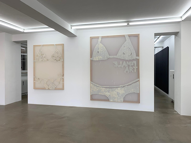 exhibition view, karo kuchar, gallery Mirko Mayer, self portrait